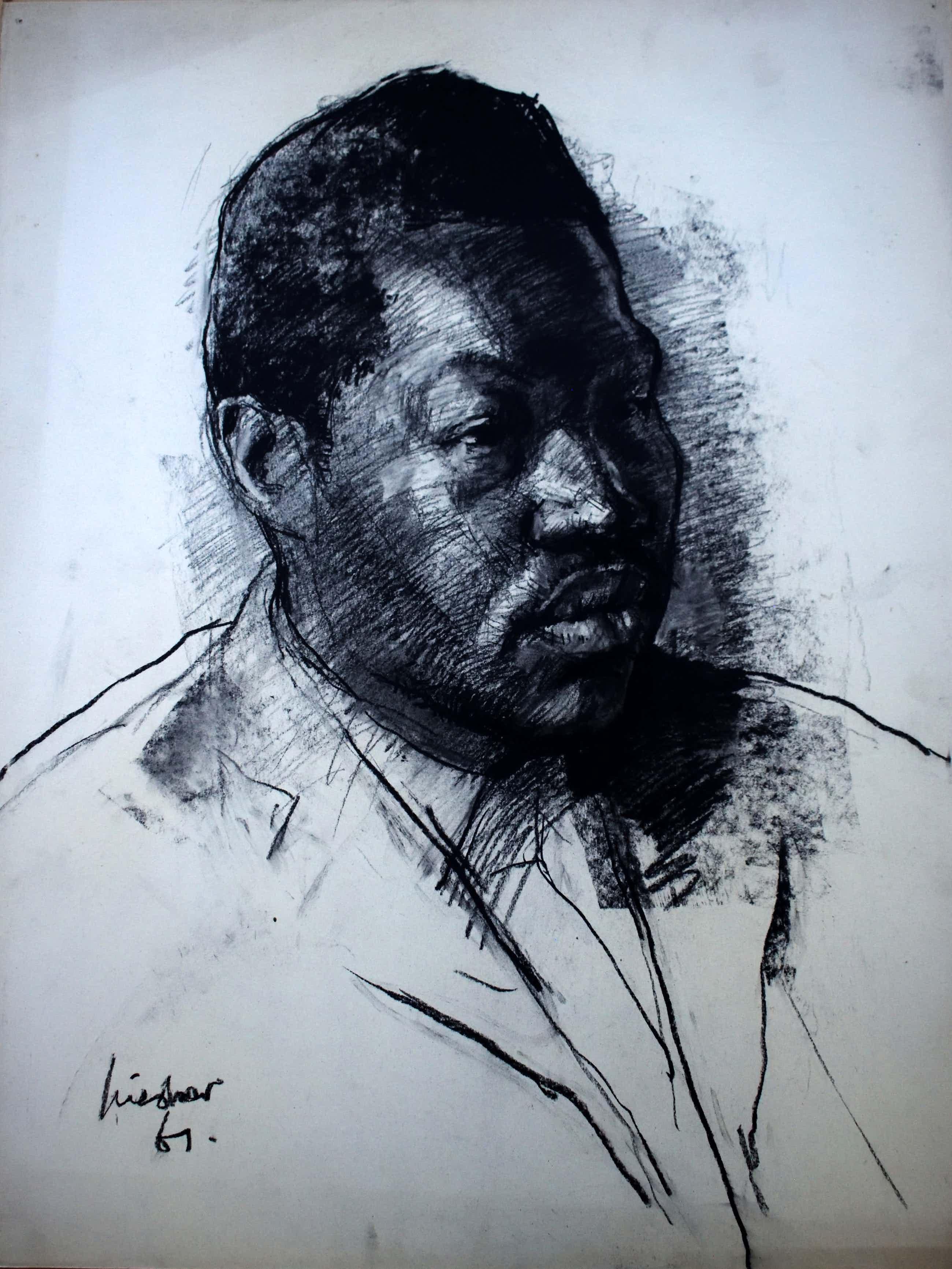 Joop Liesker - Portret van een donker gekleurde man kopen? Bied vanaf 100!