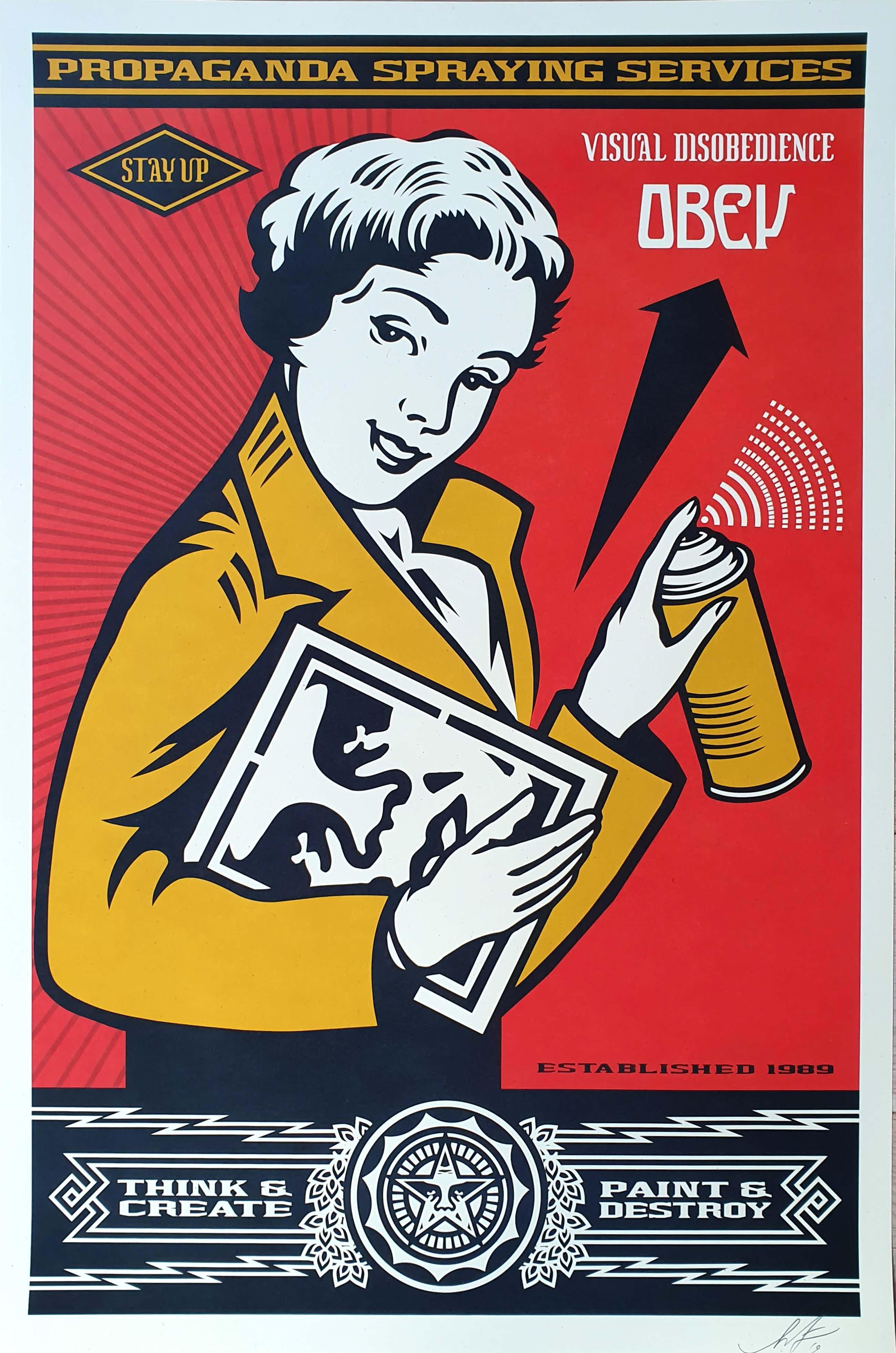 Shepard Fairey - OBEY STAY UP GIRL kopen? Bied vanaf 50!