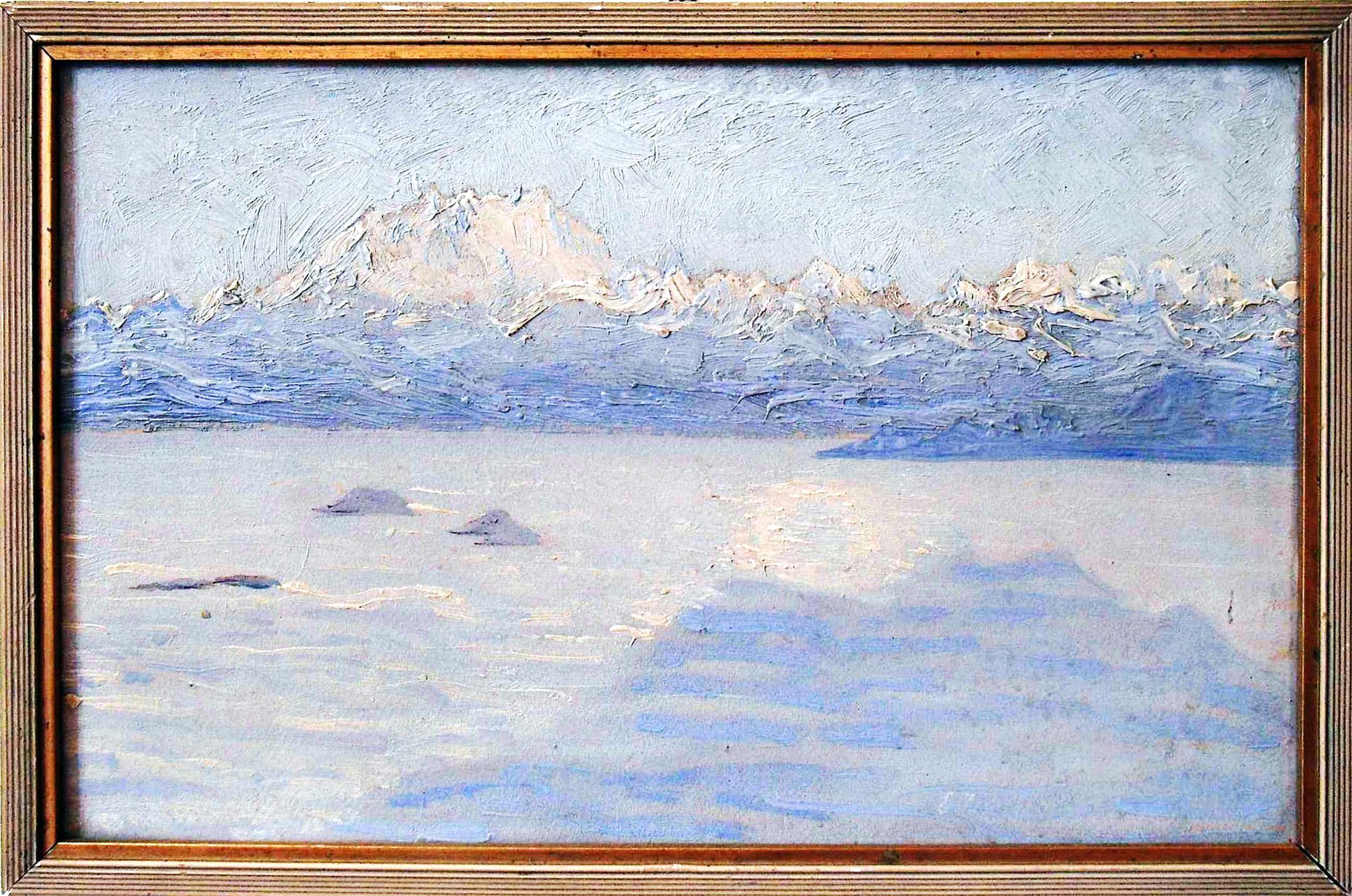 Ernst Theodor Zuppinger - Nebelmeer auf dem Montegeneroto 1912 kopen? Bied vanaf 1080!