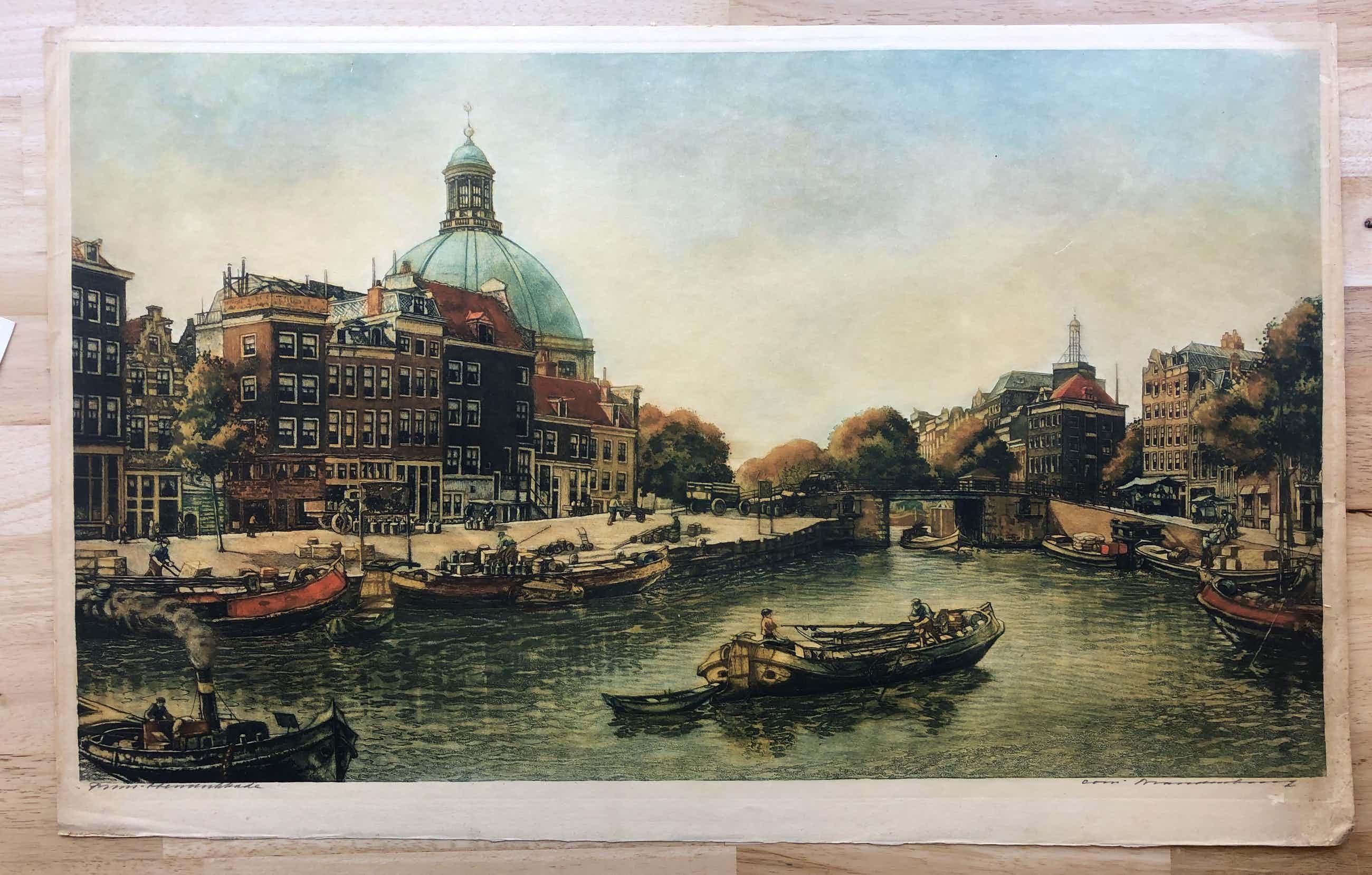 Cornelis Brandenburg - CORNELIS BRANDENBURG - GROTE ETS PRINSHENDRIKKADE kopen? Bied vanaf 70!