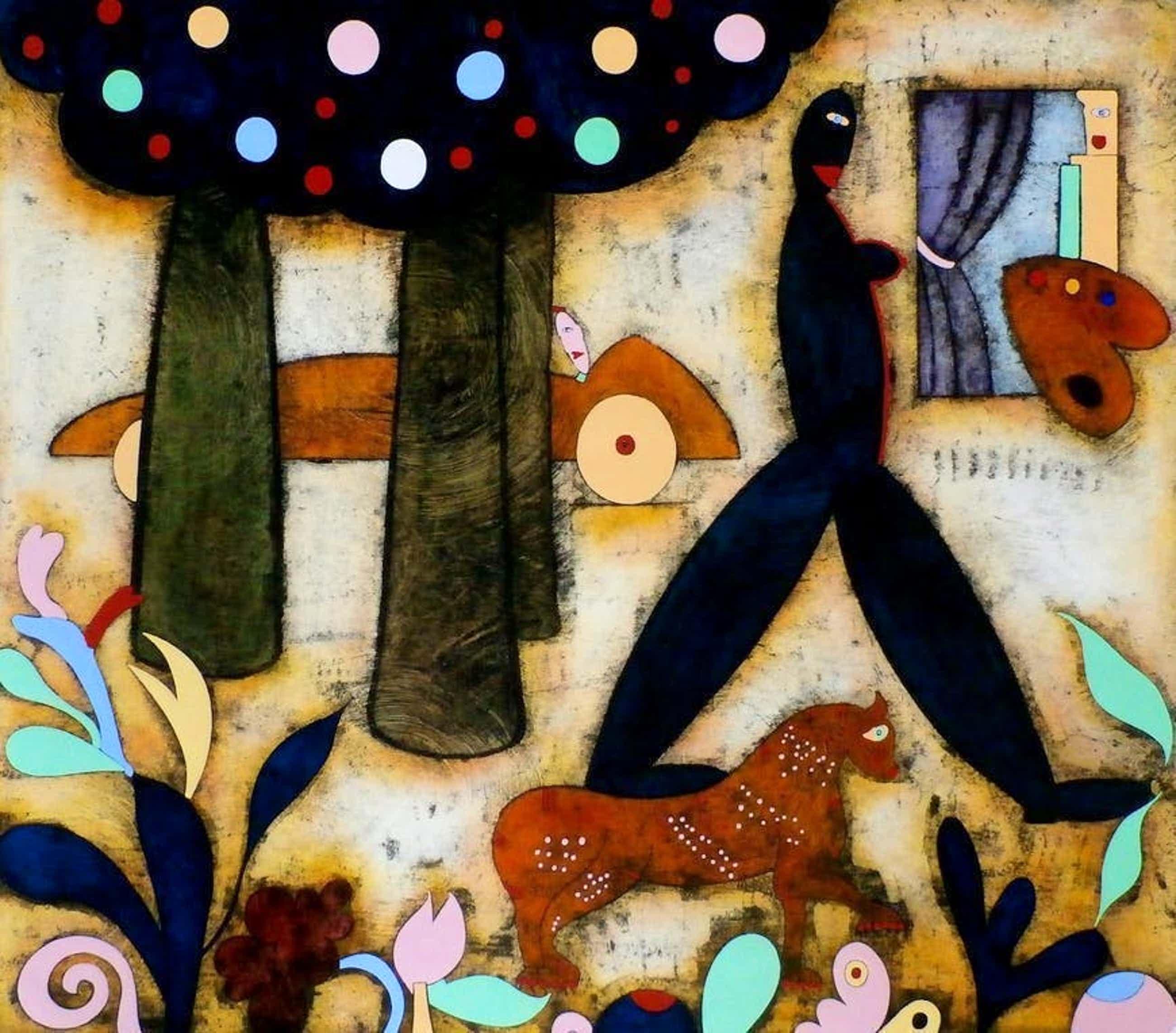 Hollie Witteveen - Schildersvruchten schilders vluchten, handbewerkte ets - ingelijst kopen? Bied vanaf 40!