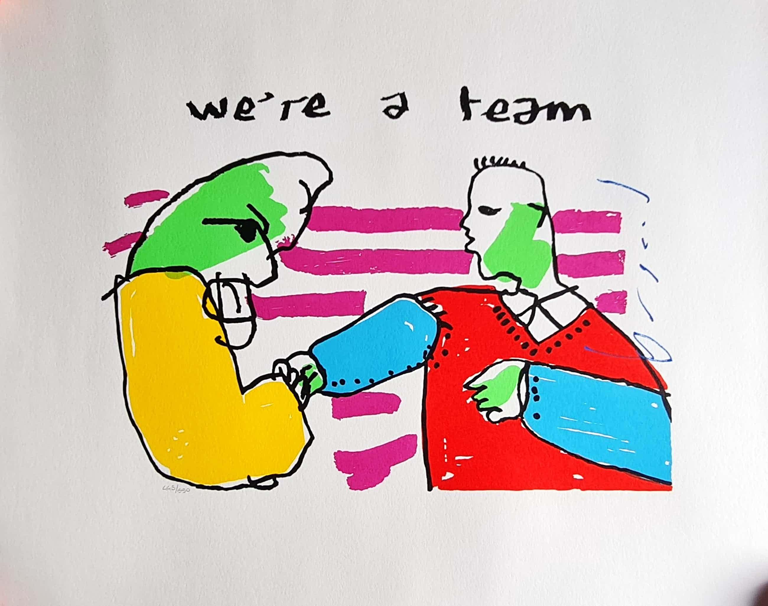 Herman Brood - We're a team - gesigneerd - 550 ex. kopen? Bied vanaf 81!