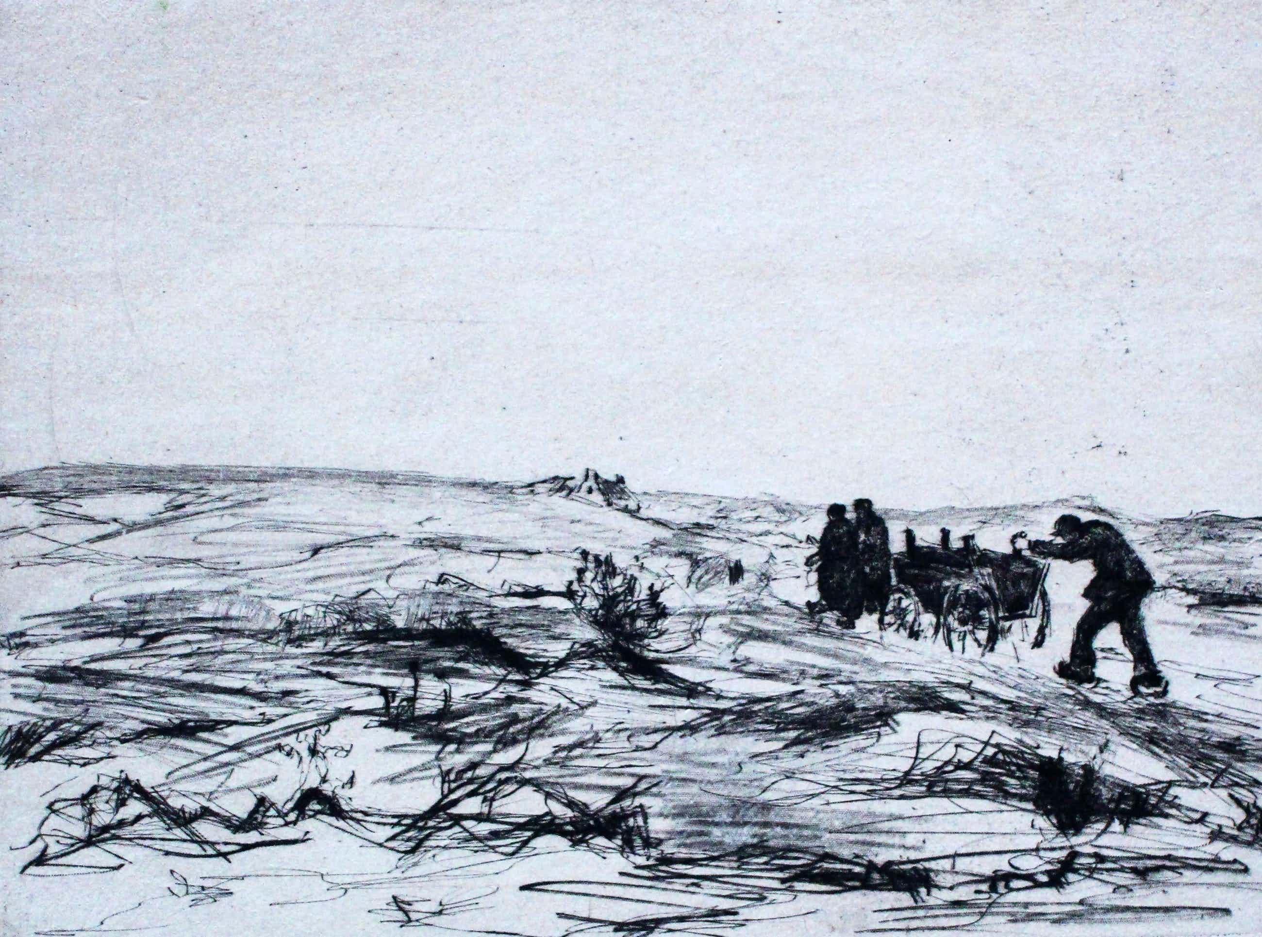 Paul Hans Ohmert - Ets: Hollands landschap kopen? Bied vanaf 49!