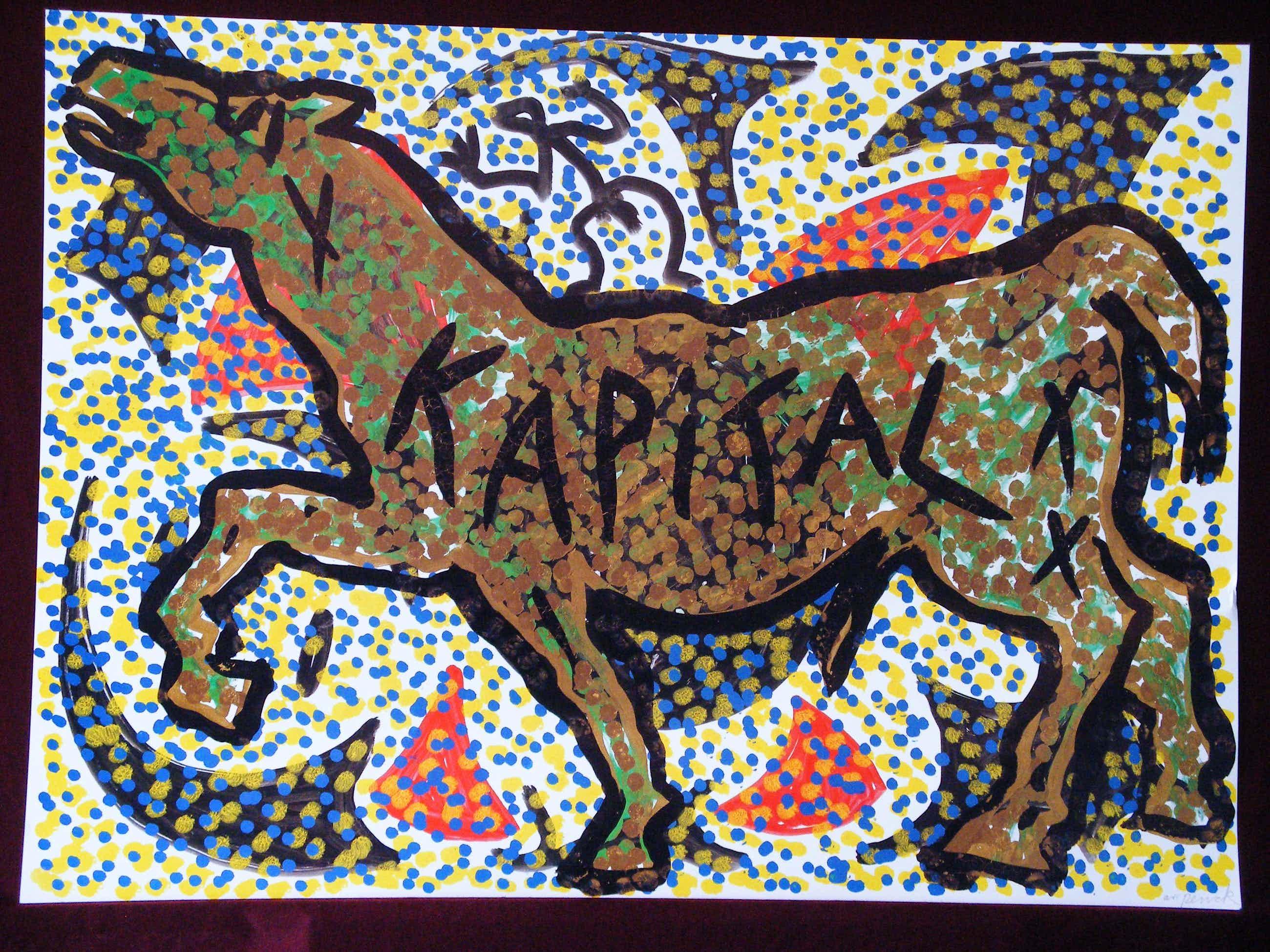 A.R. Penck - Kapital, Pferd, Farboffset, signiert kopen? Bied vanaf 220!
