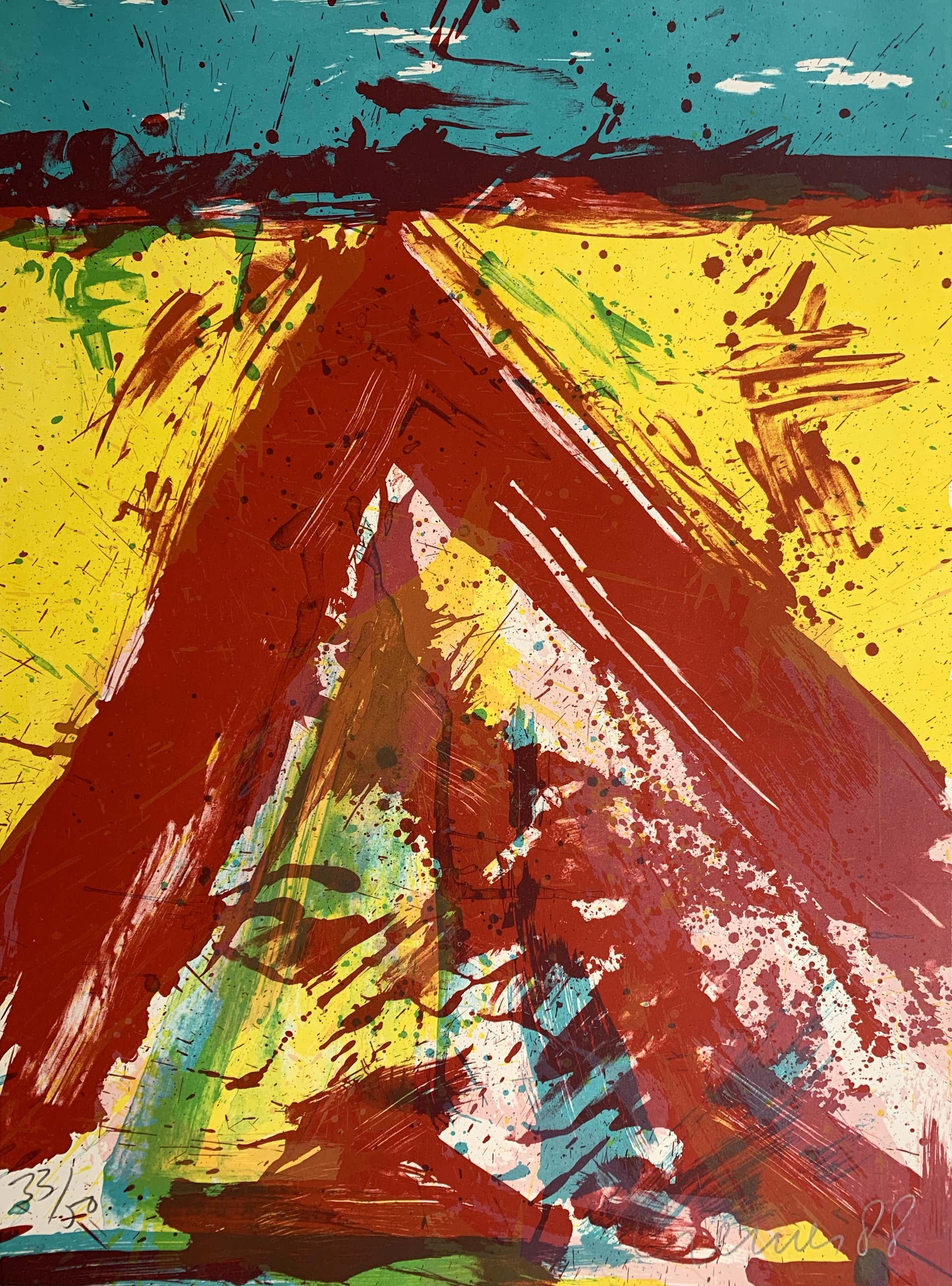 Jan Cremer - kleurenzeefdruk - 'Atilla's Bivak' - 1988 (Kleine oplage) kopen? Bied vanaf 225!