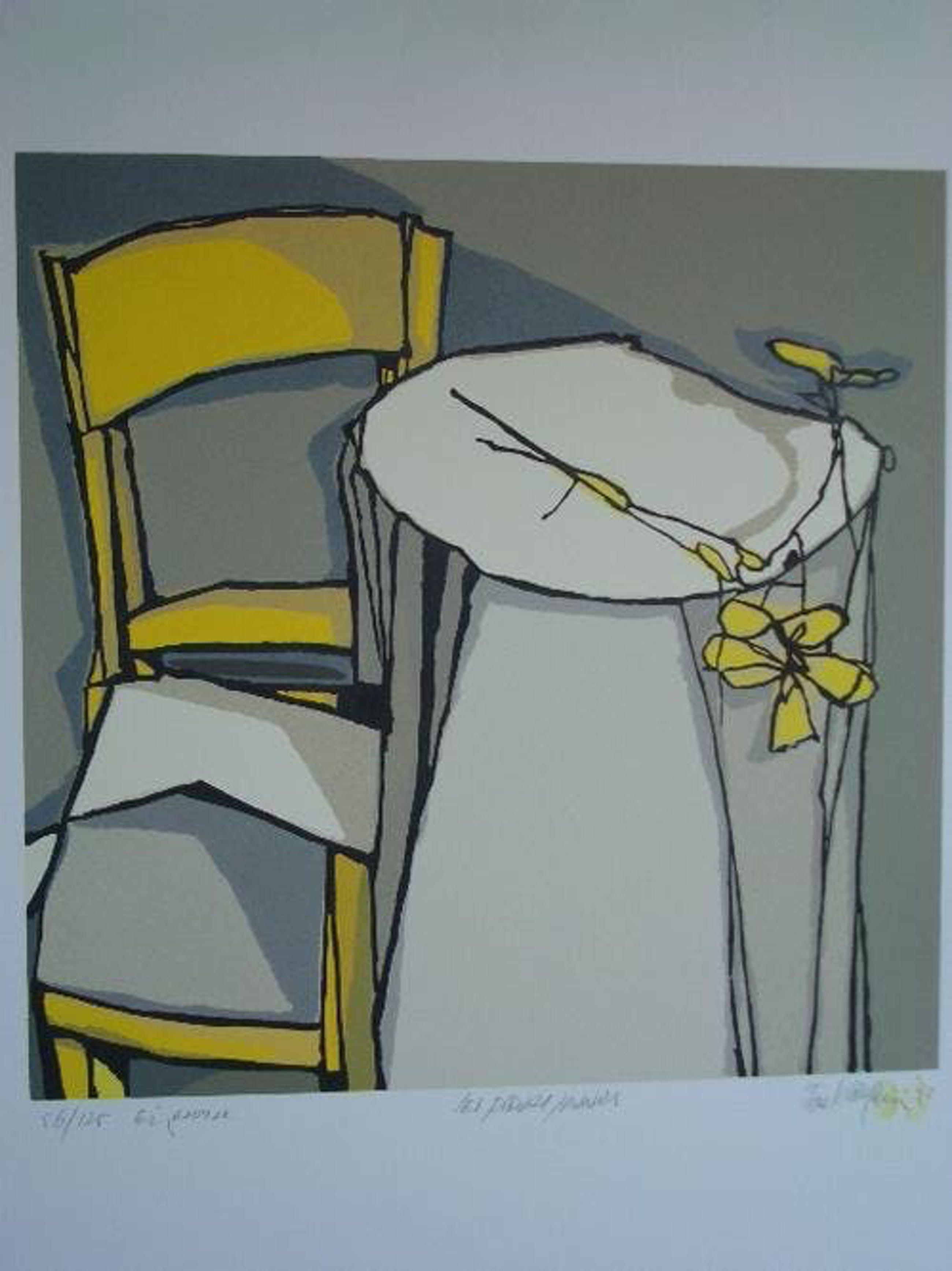 Fon Klement - Les fleures jaunes, Holzdruck 1993 kopen? Bied vanaf 180!