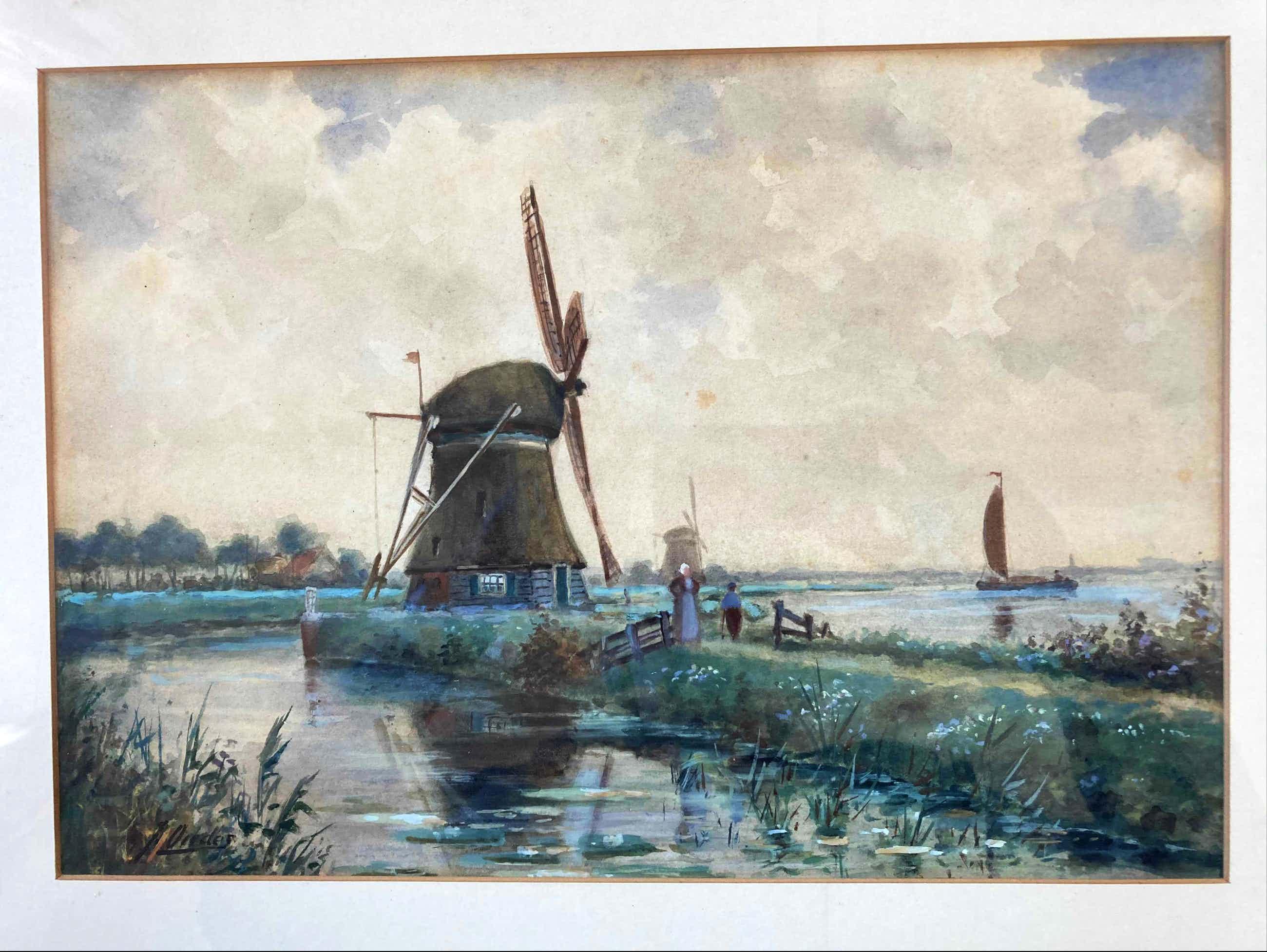 Jacob Oudes - Noord Hollands Landschap kopen? Bied vanaf 90!