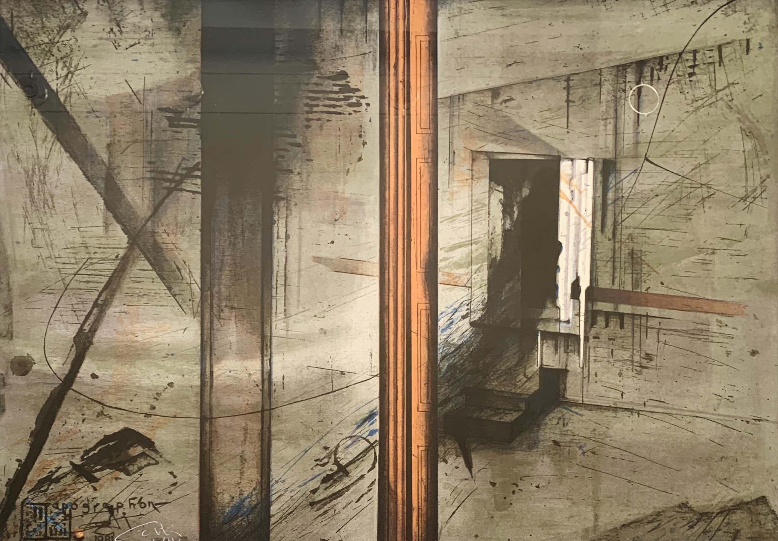 Gerti Bierenbroodspot - kleurenlitho - 'Apographon Saqqara' - 1981 kopen? Bied vanaf 175!