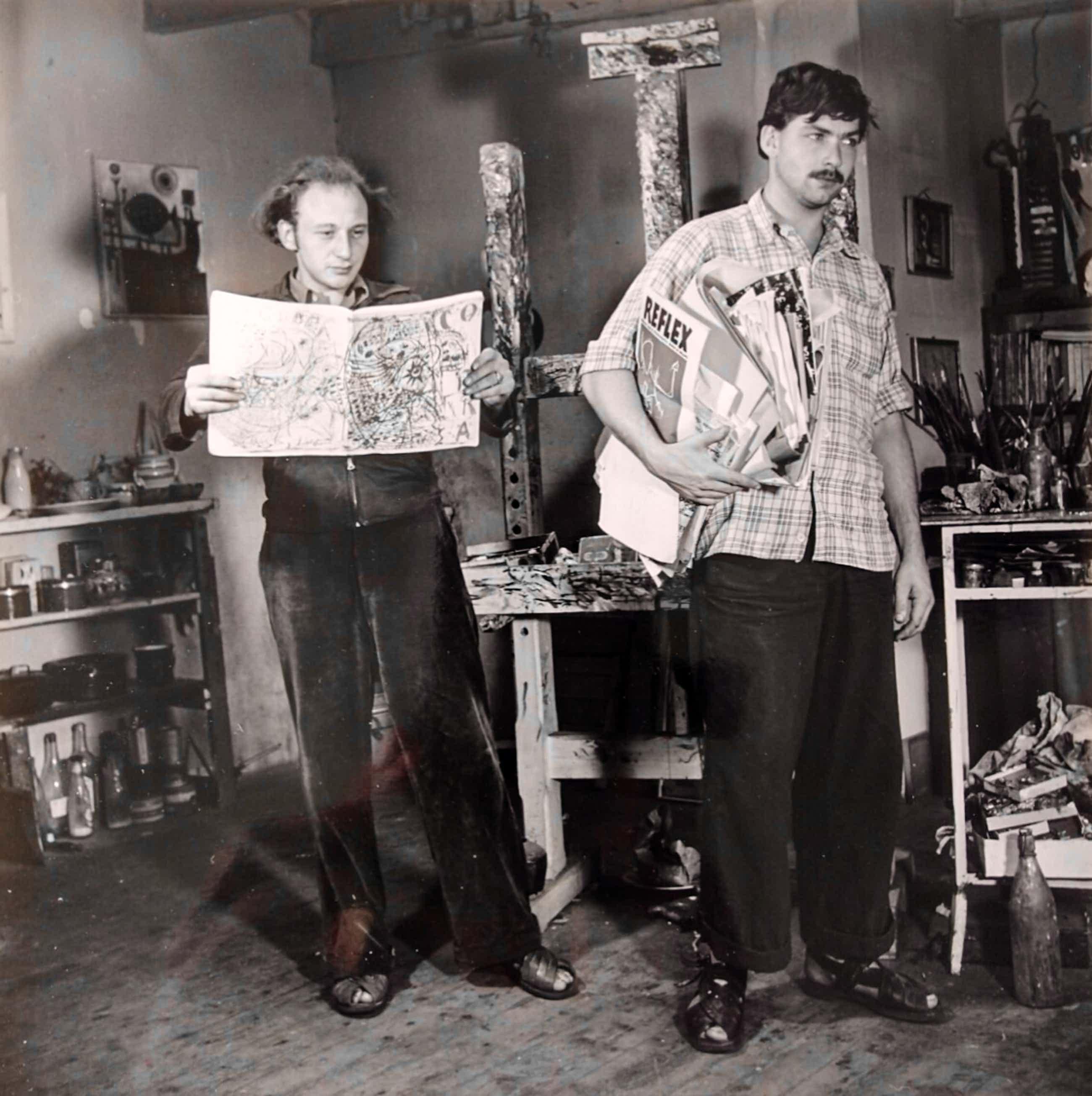 Karel Appel - Henny Riemens foto Karel Appel en Theo Wolvecamp COBRA 1949-51 kopen? Bied vanaf 45!