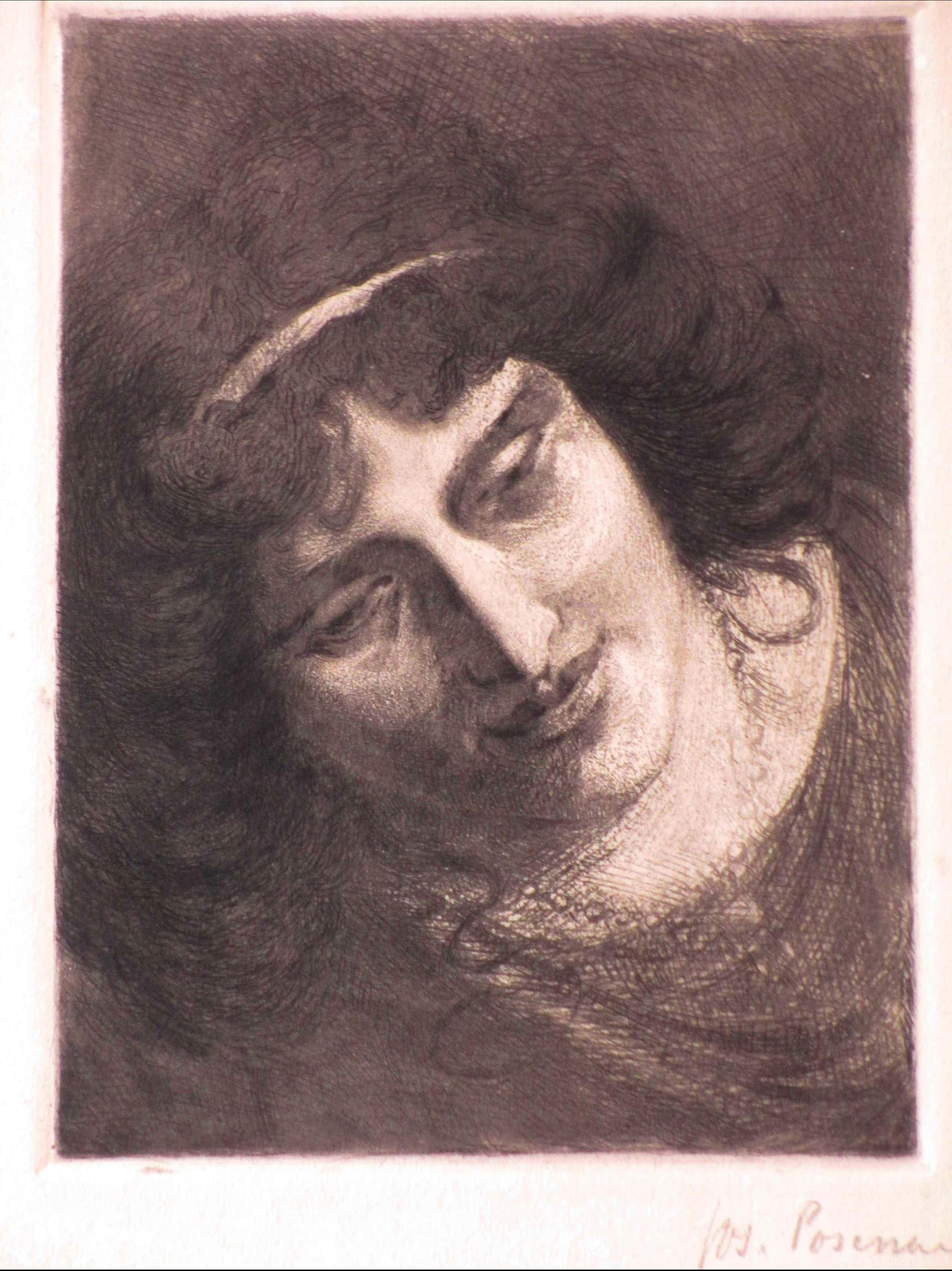 Joseph Posenaer - Vrouw met halsketting - Ets kopen? Bied vanaf 40!