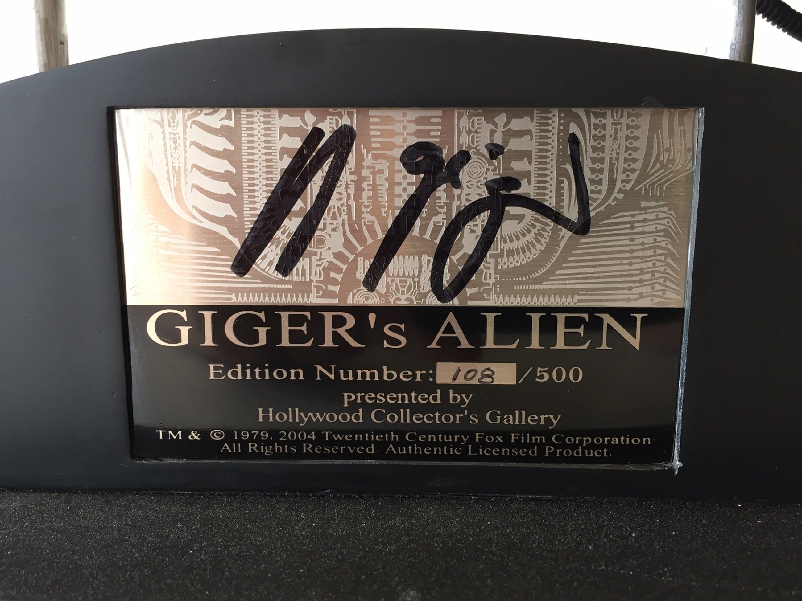 Hans Rudolf Giger - Alien Kopf Skulptur von HR Giger handsigniert kopen? Bied vanaf 2490!