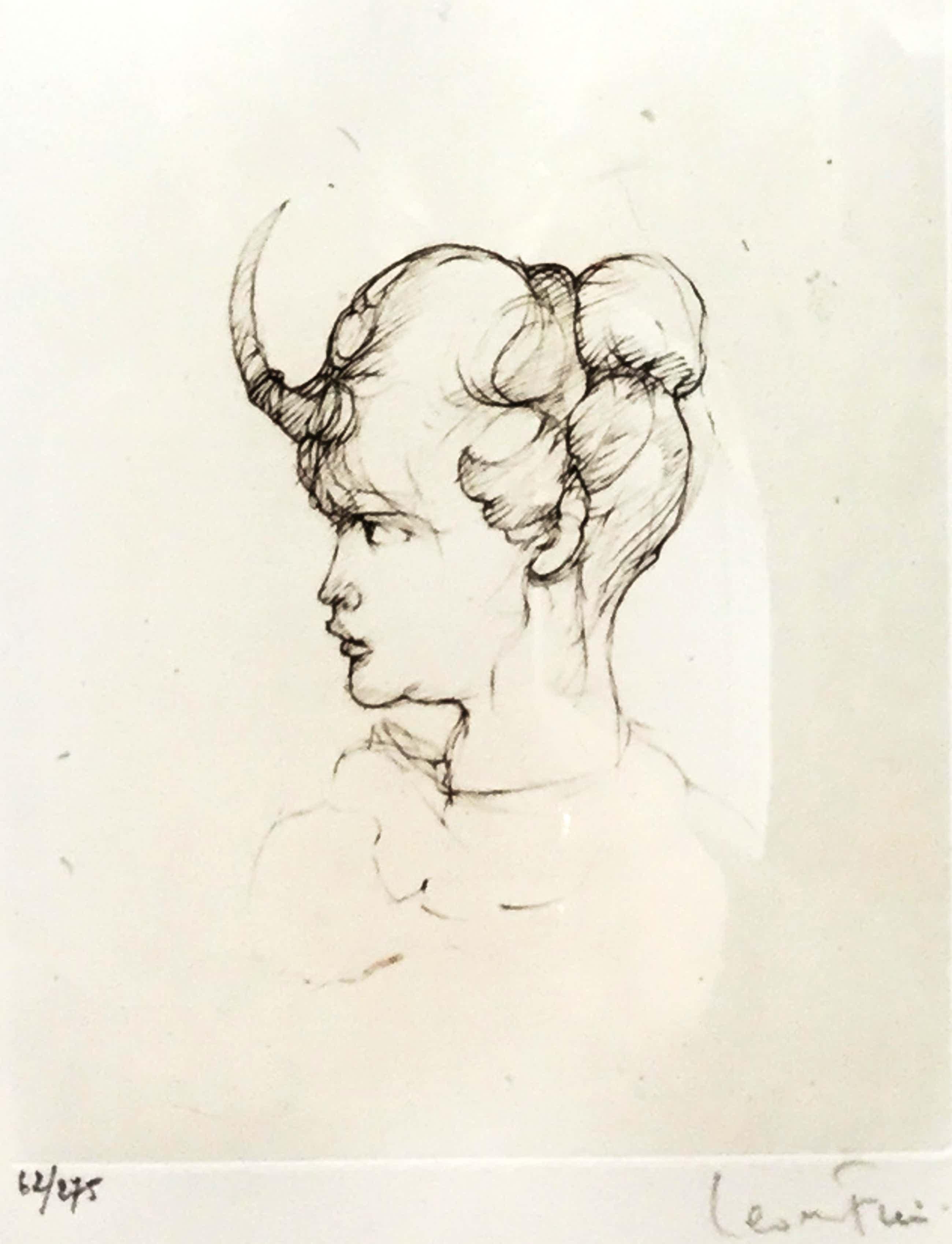 Leonor Fini - C3461-1, Portret van figuur met hoorn kopen? Bied vanaf 150!
