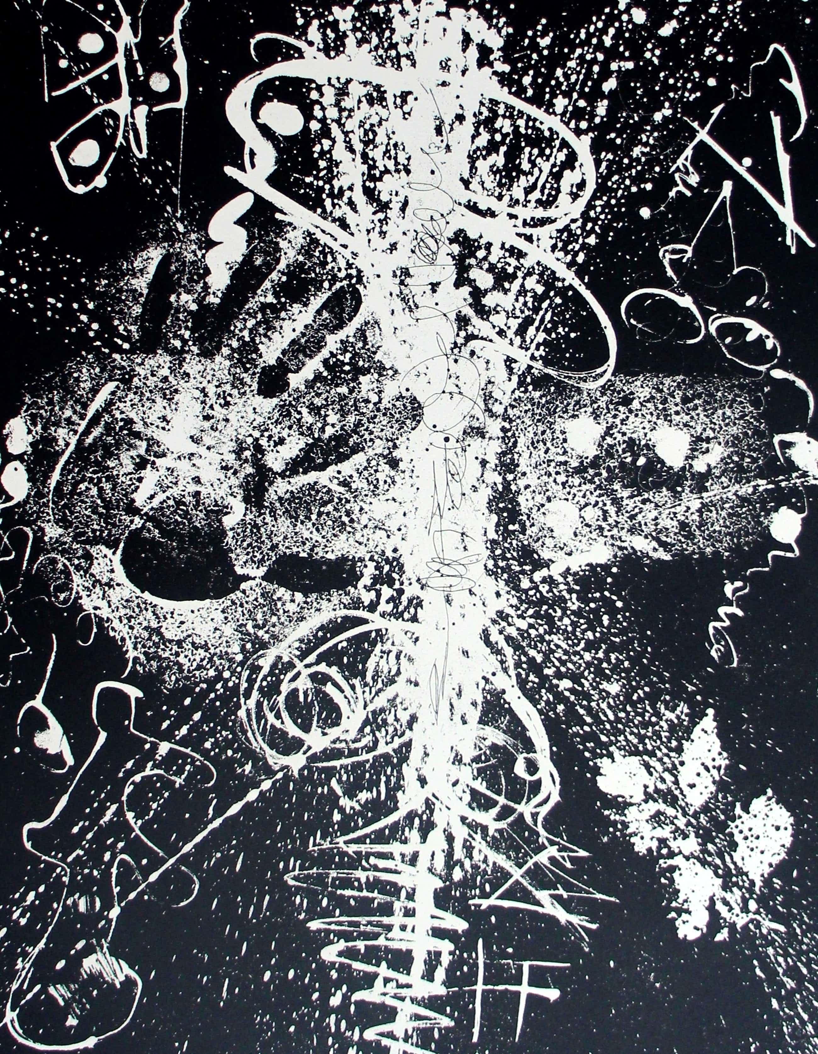 Piet van Stuivenberg - Litho: Abstracte compositie - 1960 kopen? Bied vanaf 36!