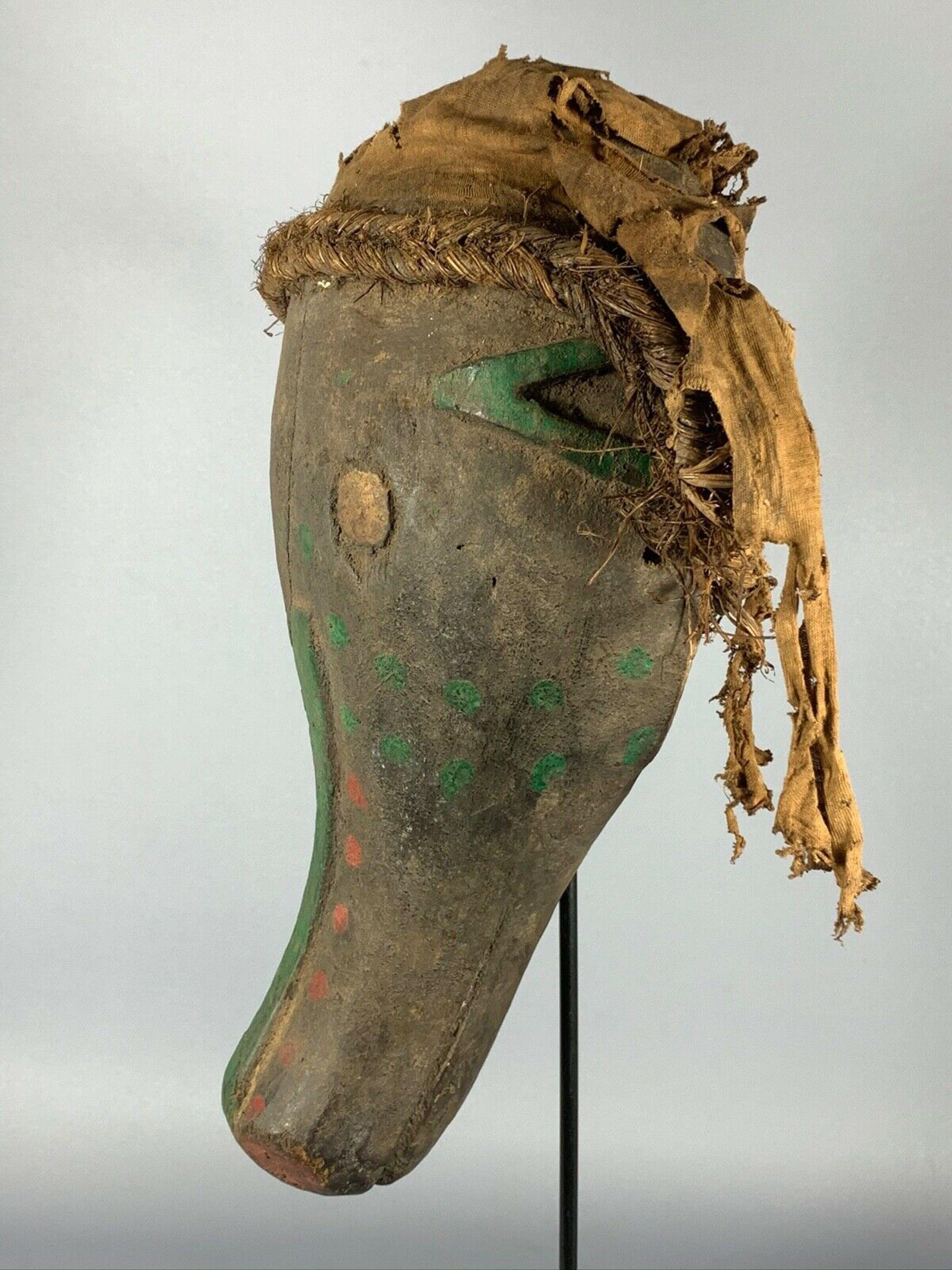 Bambara - 190710 - Old Tribal used African Bambara mask - Mali. kopen? Bied vanaf 75!