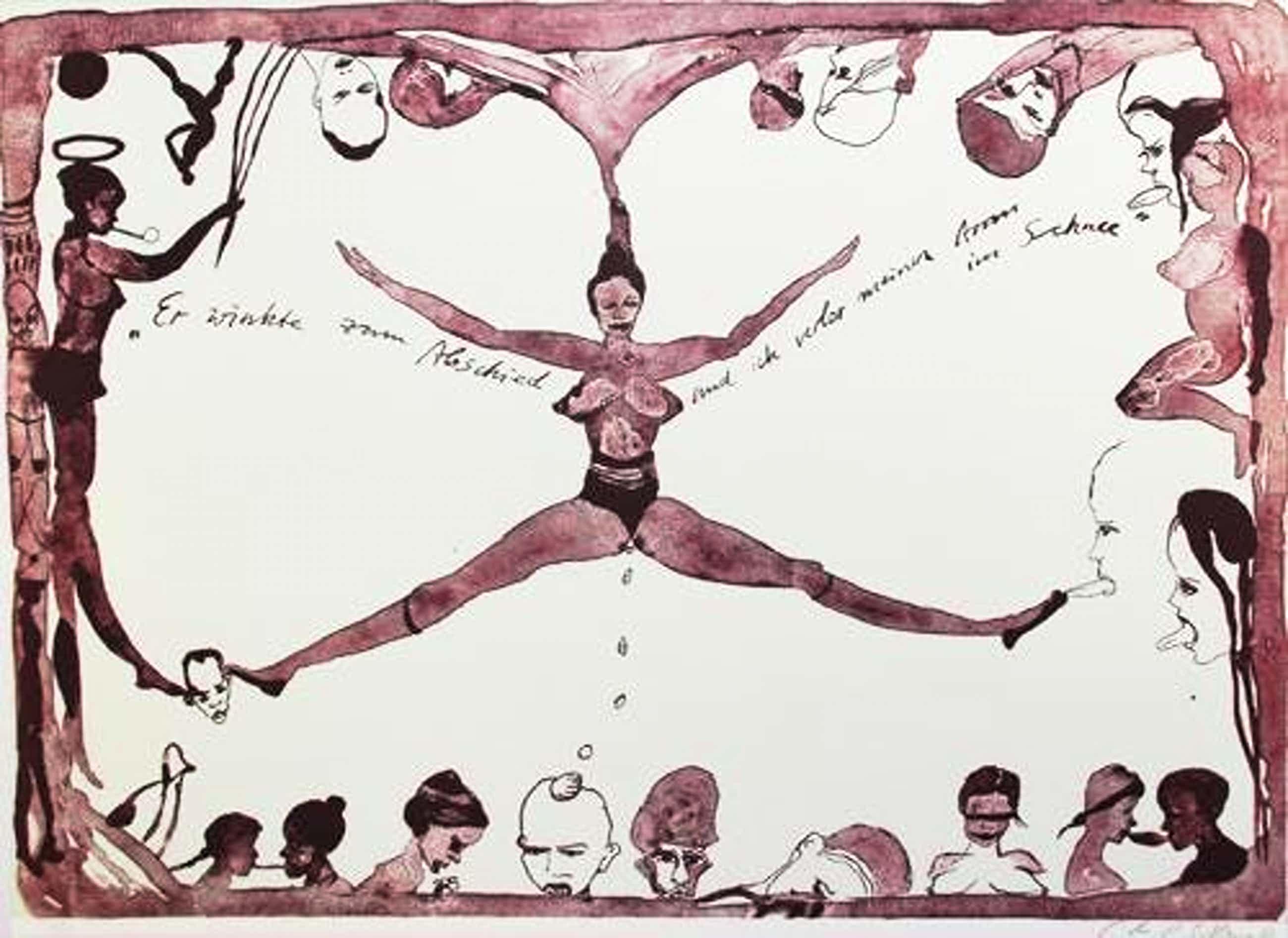 Cornelia Schleime - Farblithografie,2002, handsign. 60er Auflage-RARITÄT- kopen? Bied vanaf 440!