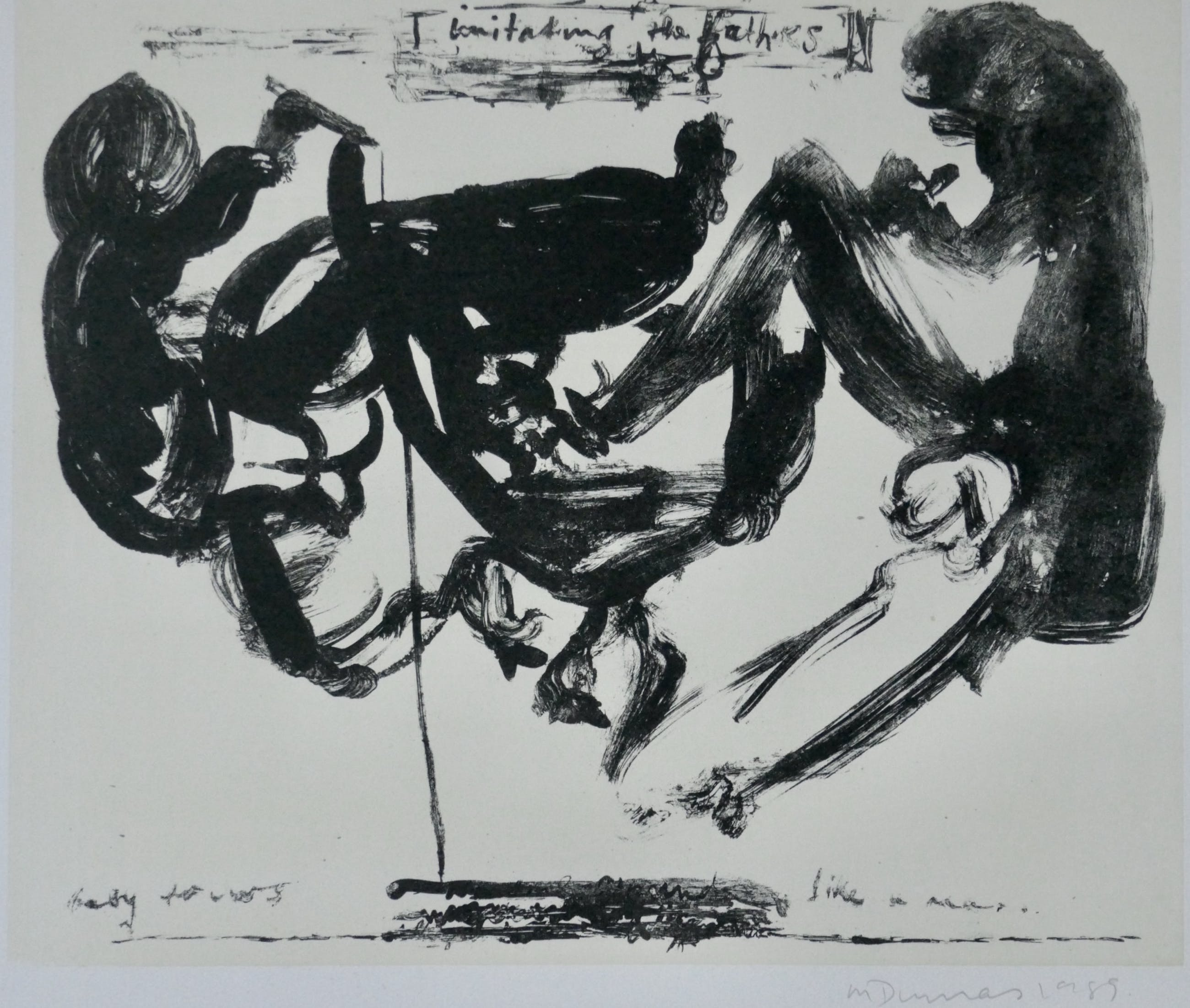 Marlene Dumas - Imitating the fathers kopen? Bied vanaf 999!