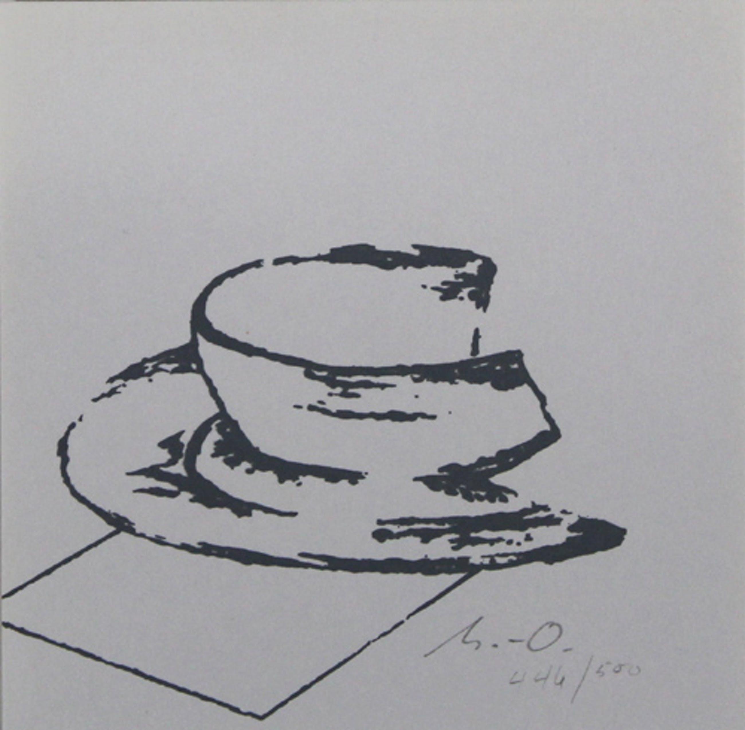 Willy Meyer-Osburg - Handgesigneerde lithografie: Tasse kopen? Bied vanaf 15!