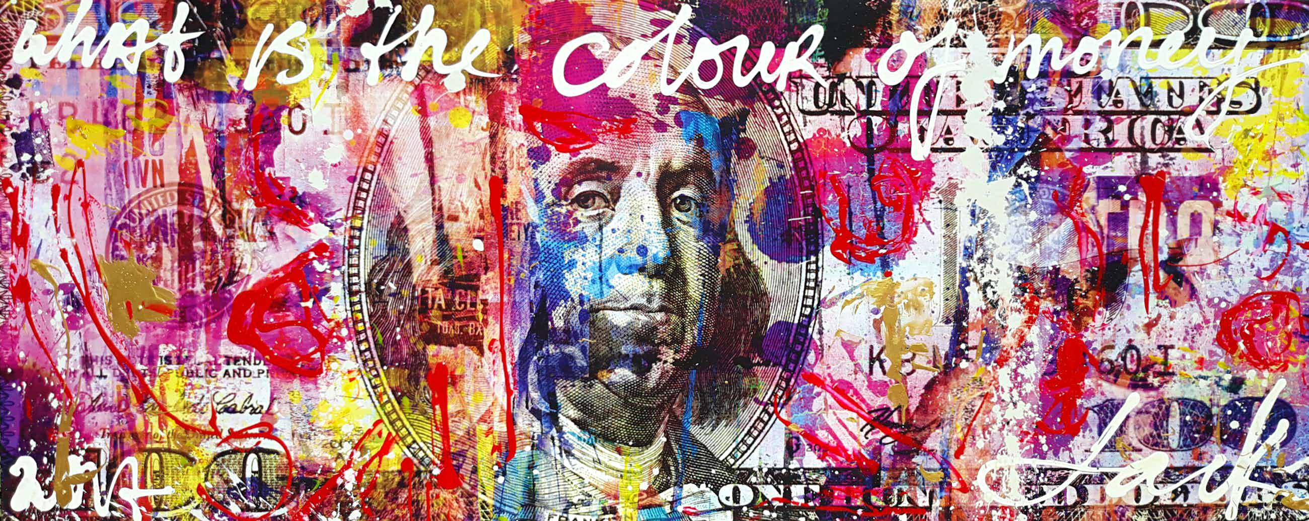 Jack Liemburg - What is the colour of money, gemengde techniek op canvas (zeer groot!) kopen? Bied vanaf 796!