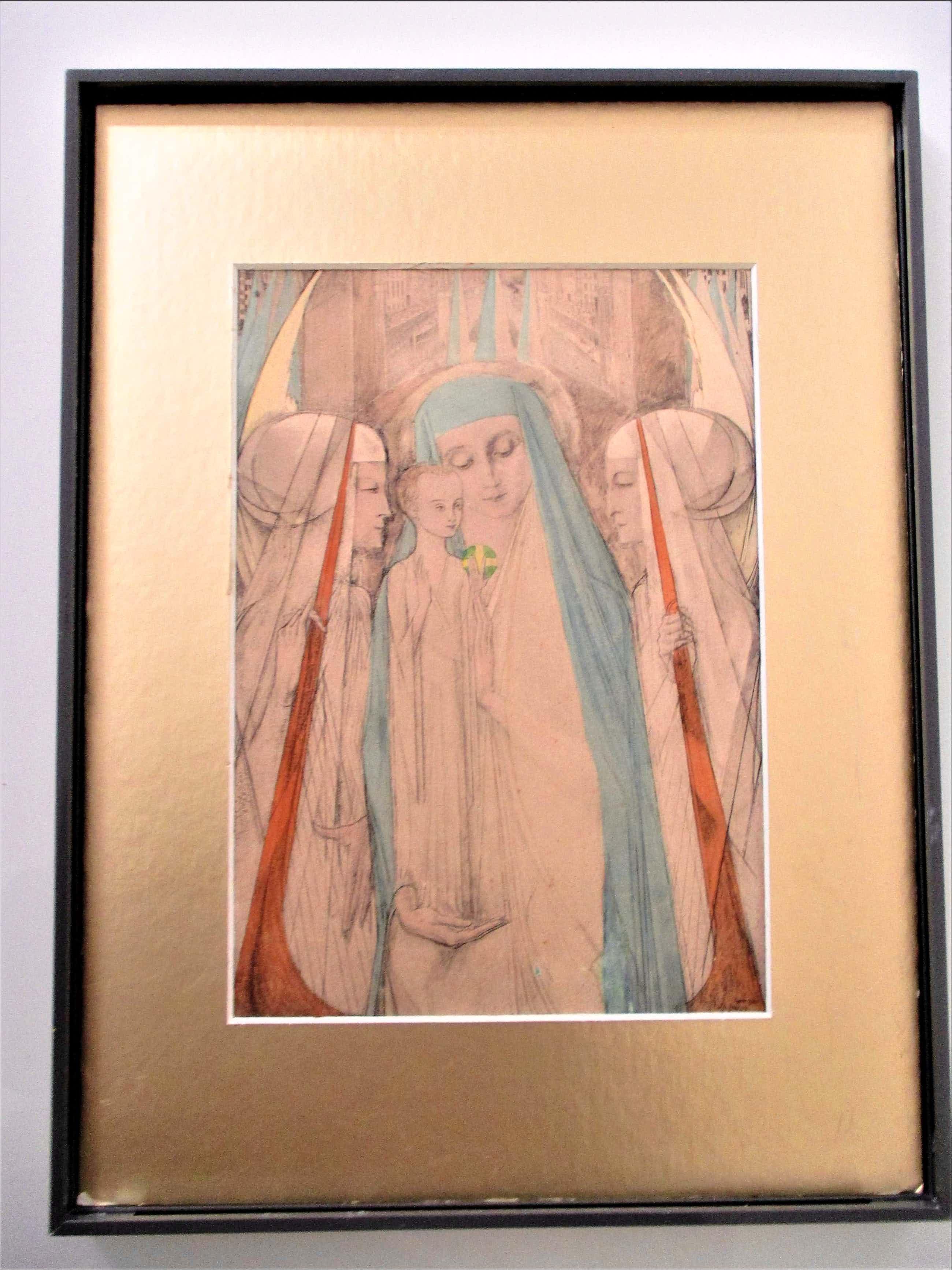 Jan Toorop - Prent: Madonna met de engelen kopen? Bied vanaf 103!