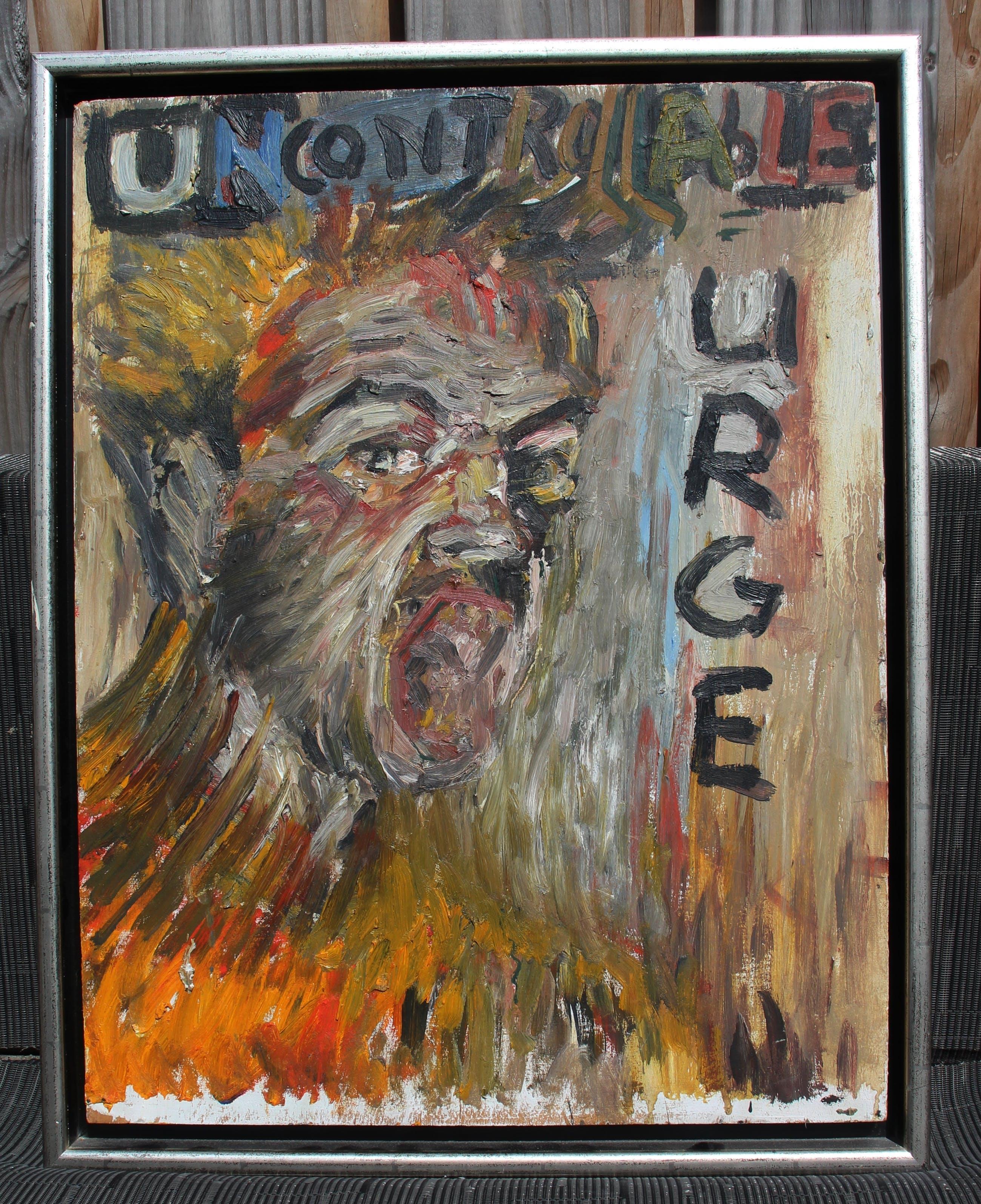 Peter Klashorst - acryl op board: zelfportret (uncontrollable urge) - 2004 kopen? Bied vanaf 199!