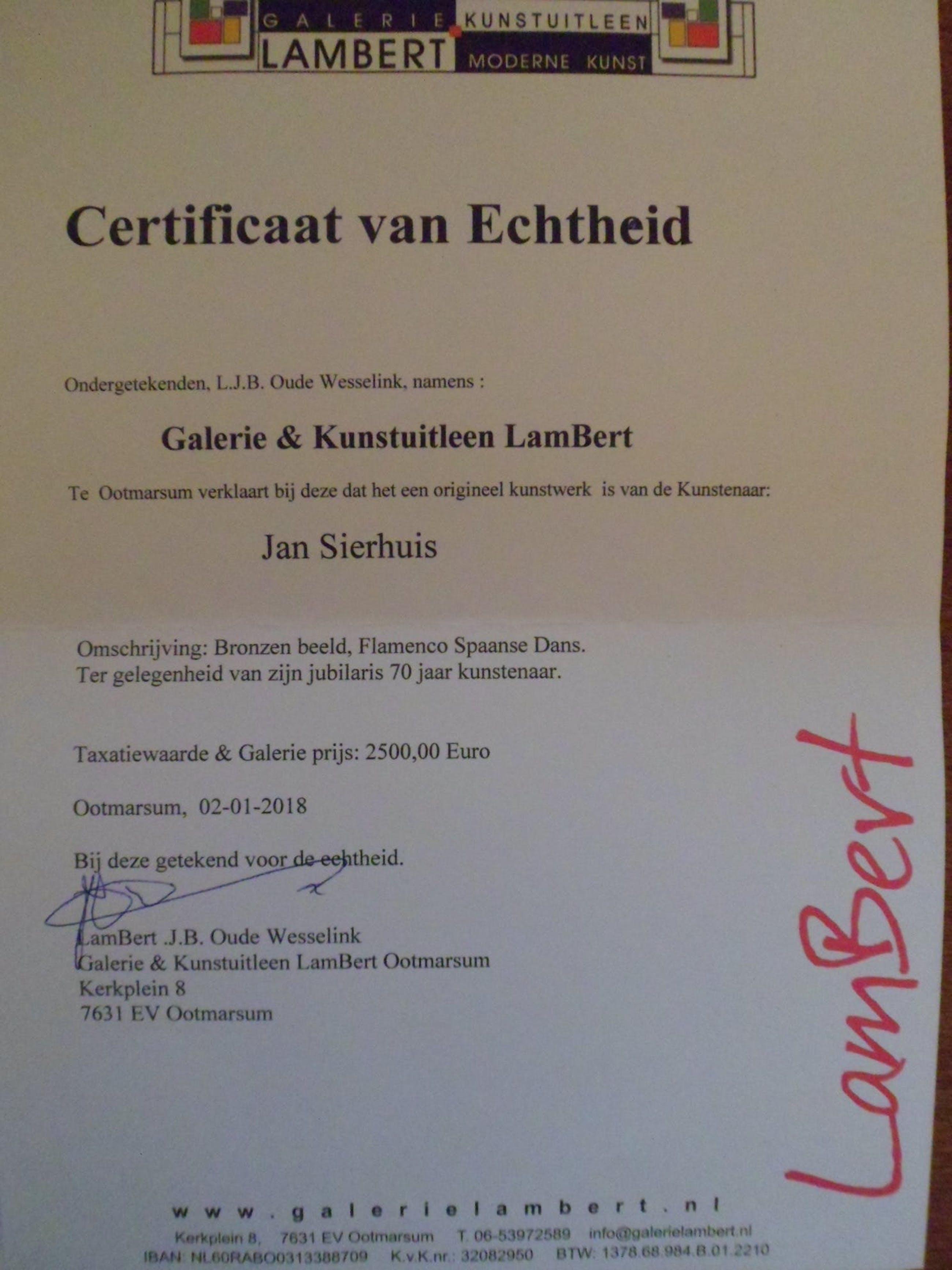 Jan Sierhuis - Jubileum uitgave!!!Taxatiewaarde € 2.500,- uniek groen patina. kopen? Bied vanaf 899!