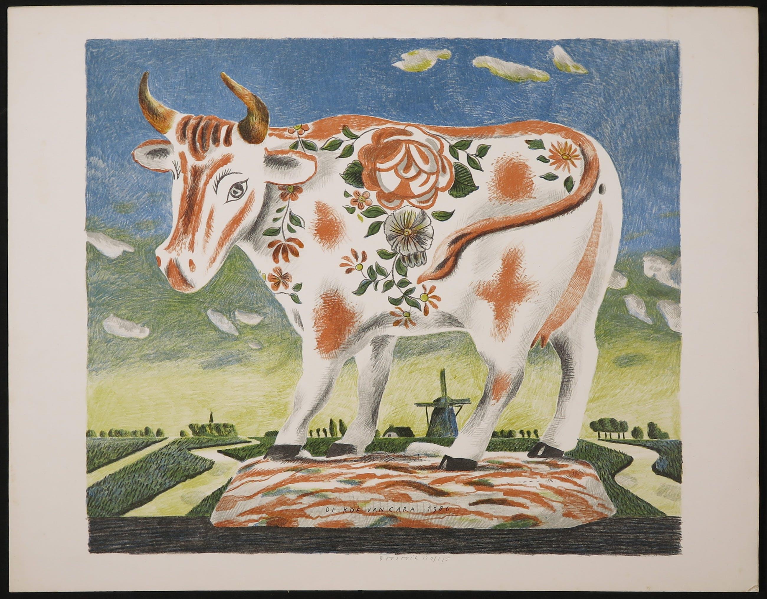 Herman Berserik - Litho, De koe van Cara kopen? Bied vanaf 40!