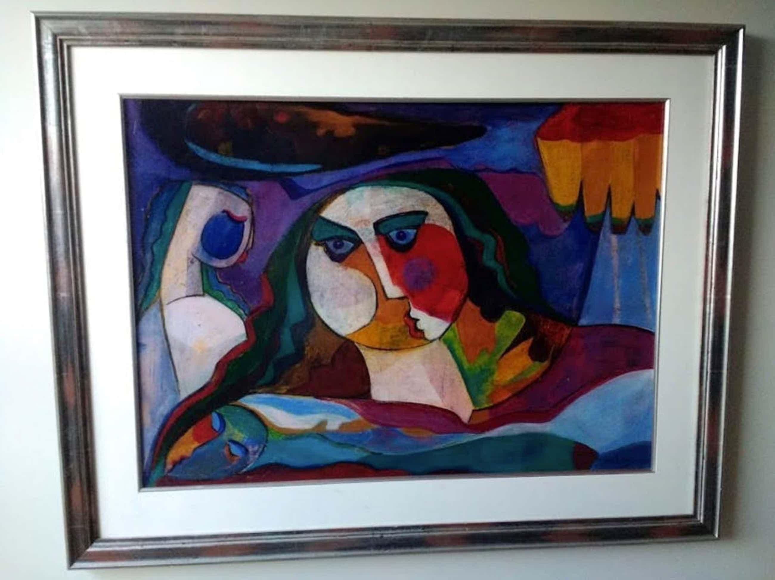 Theo Mackaay - groot schilderij op papier, gesigneerd en ingelijst kopen? Bied vanaf 800!