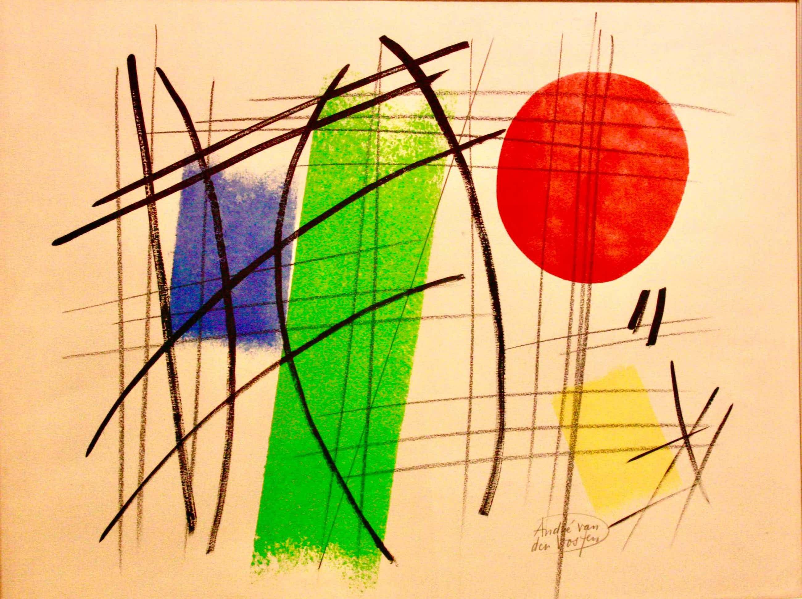 Andre van der Vossen - abstract kopen? Bied vanaf 550!