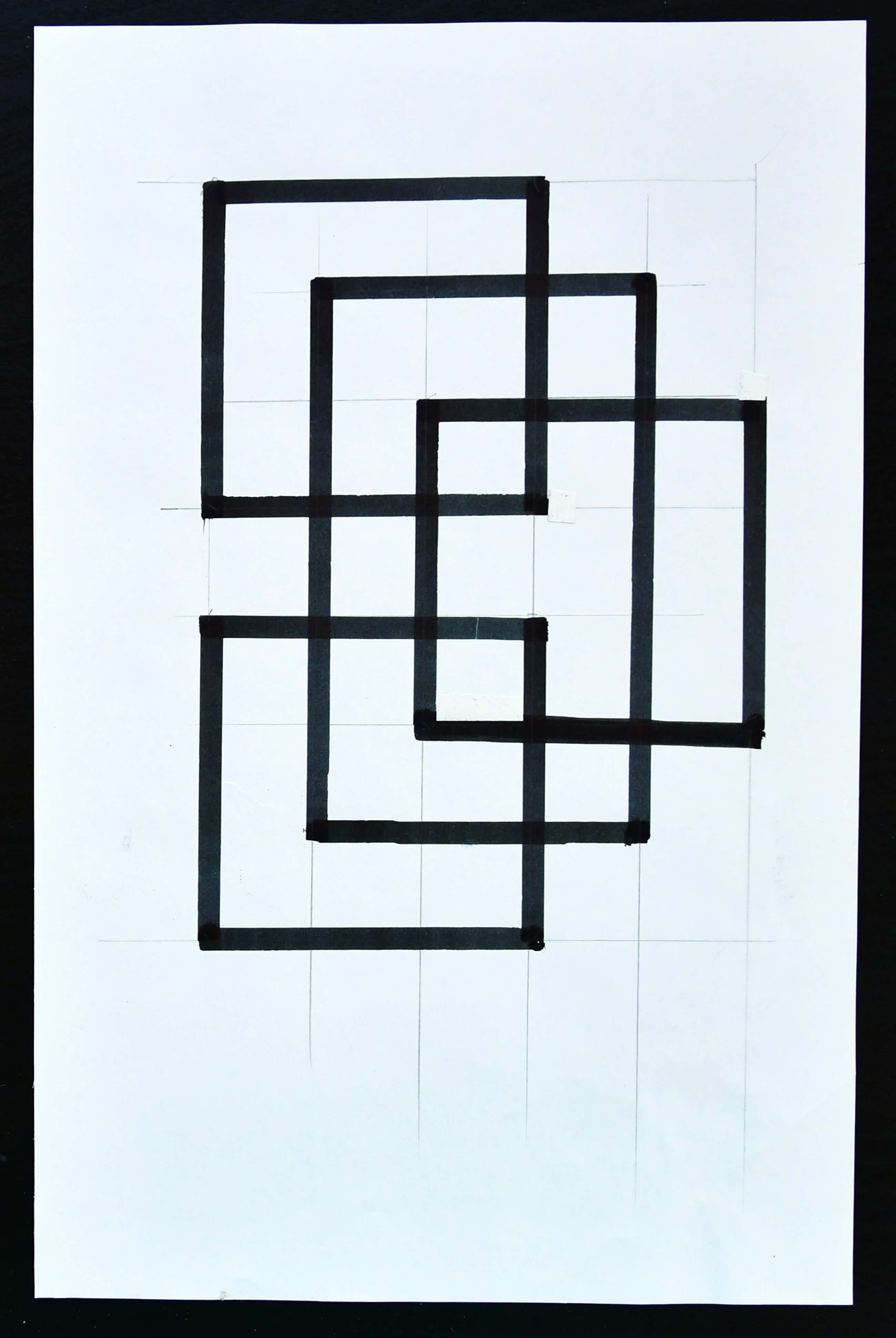 Siep van den Berg - #VIER RECHTHOEKEN , Constructivistische compositie# 1990, mint- kopen? Bied vanaf 36!