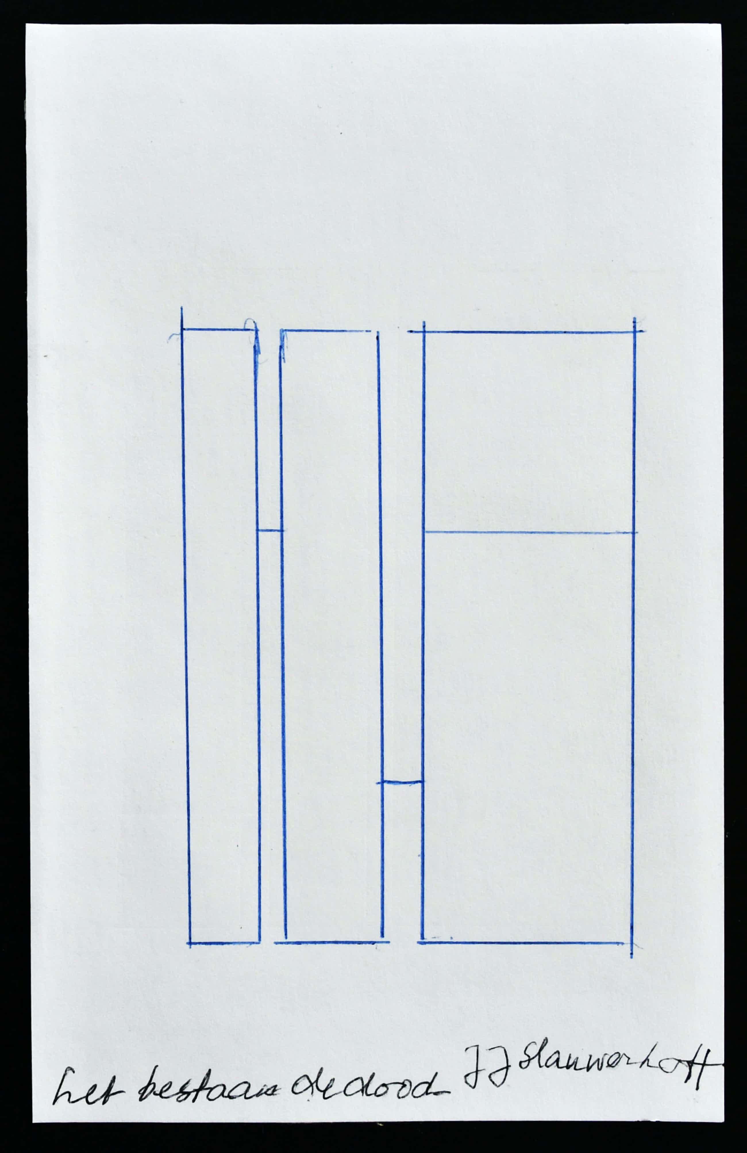 Siep van den Berg - # JJ SLAUERHOFF # constructivistische compositie, 1990 kopen? Bied vanaf 45!