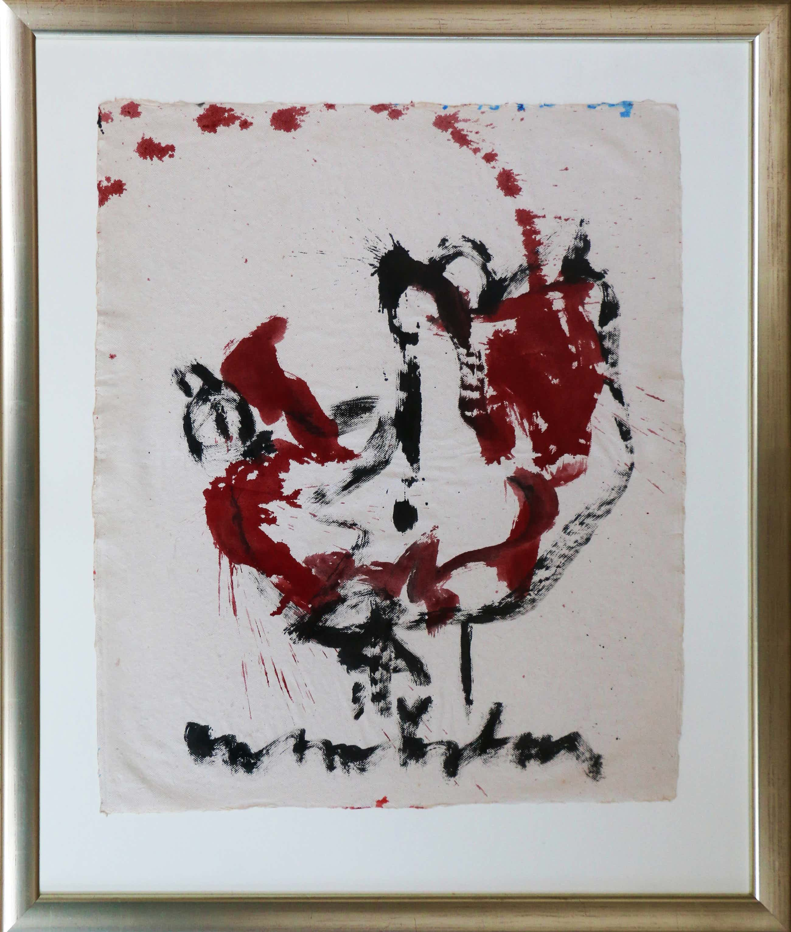 Anton Heyboer - Rood-zwarte Oervogel kopen? Bied vanaf 275!