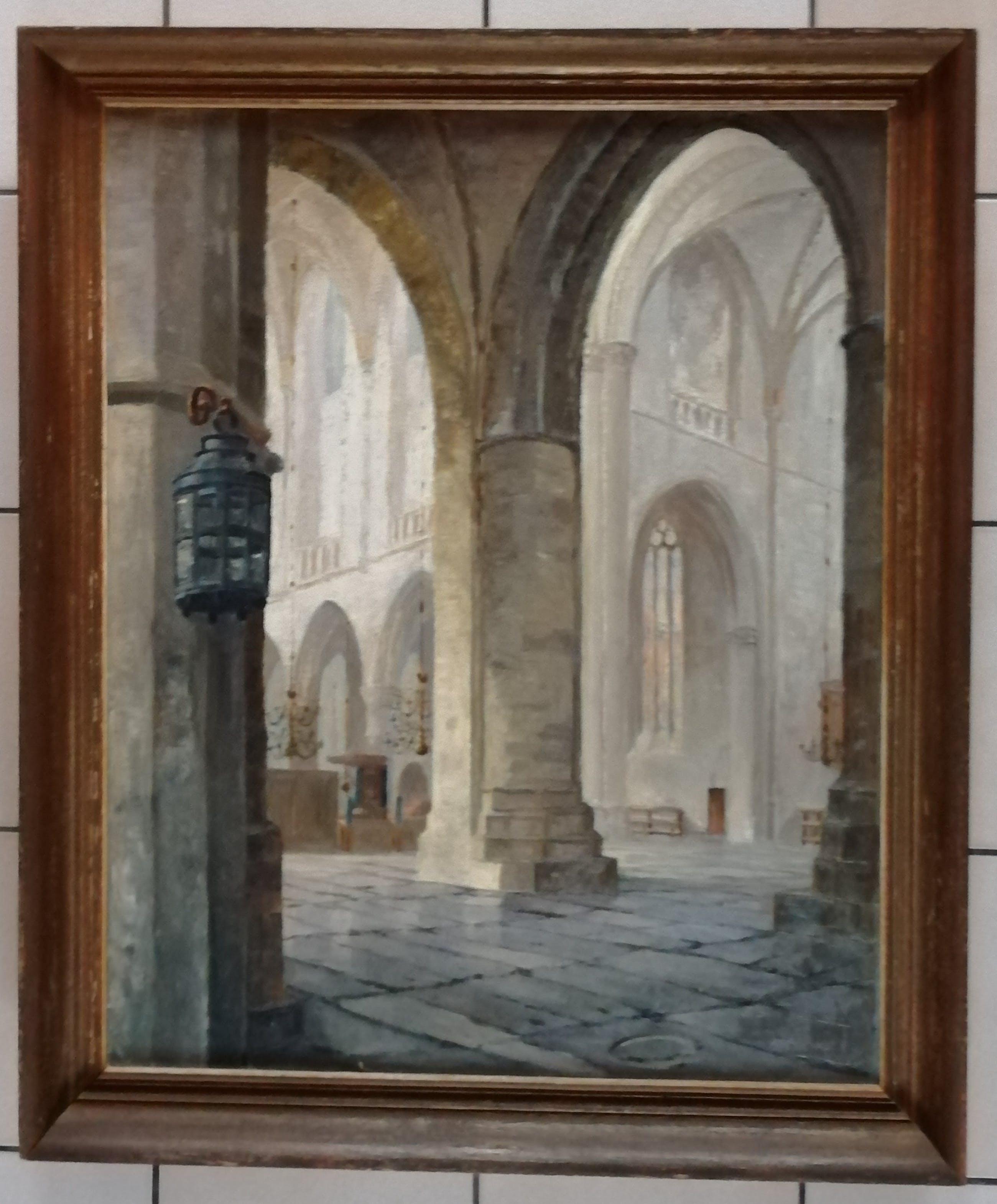 Arij Albert Willem Verhorst - Interieur Grote- of Sint Bavokerk Haarlem kopen? Bied vanaf 130!