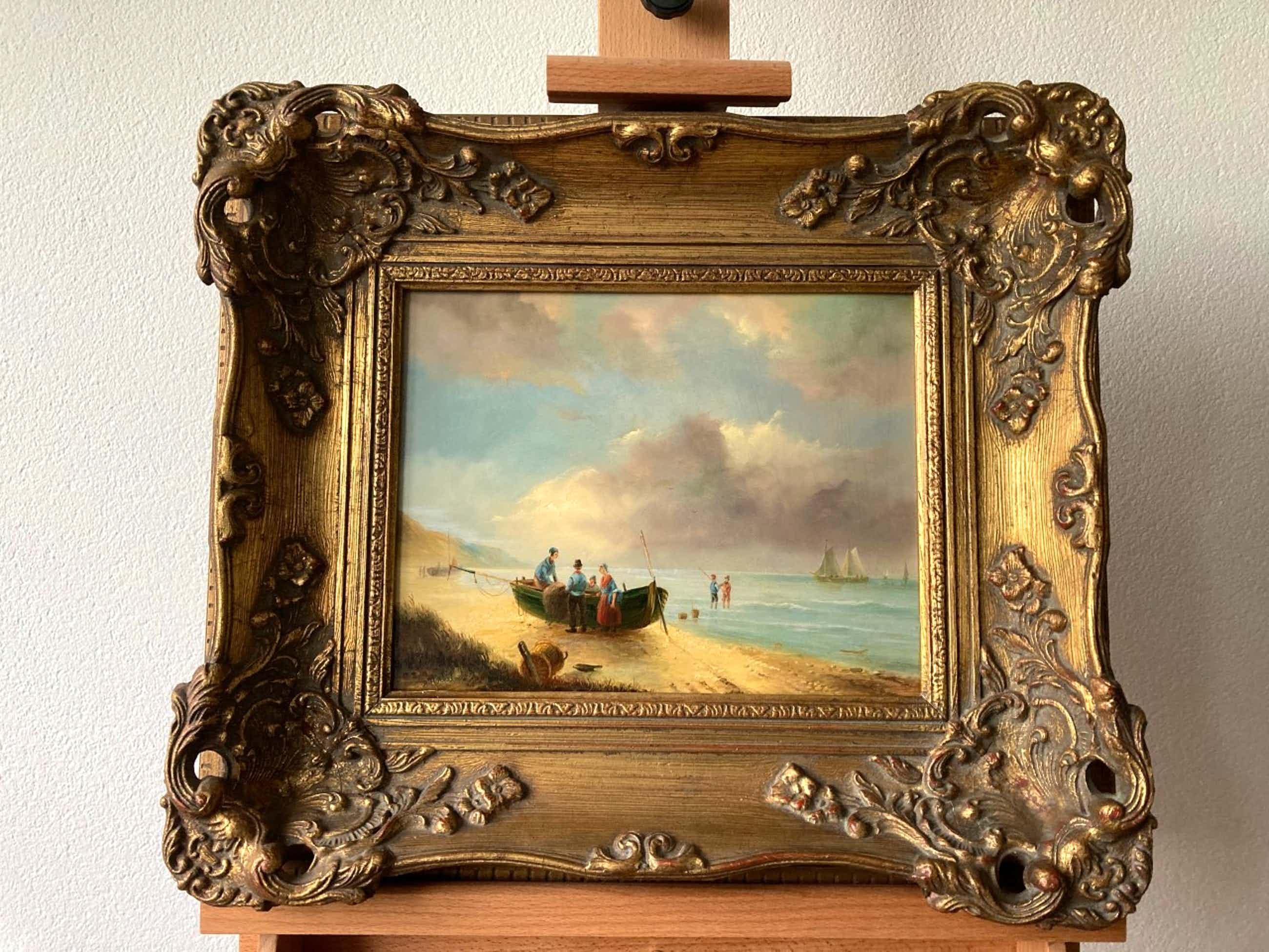 Albert Herkelman - Vissers op het strand kopen? Bied vanaf 275!