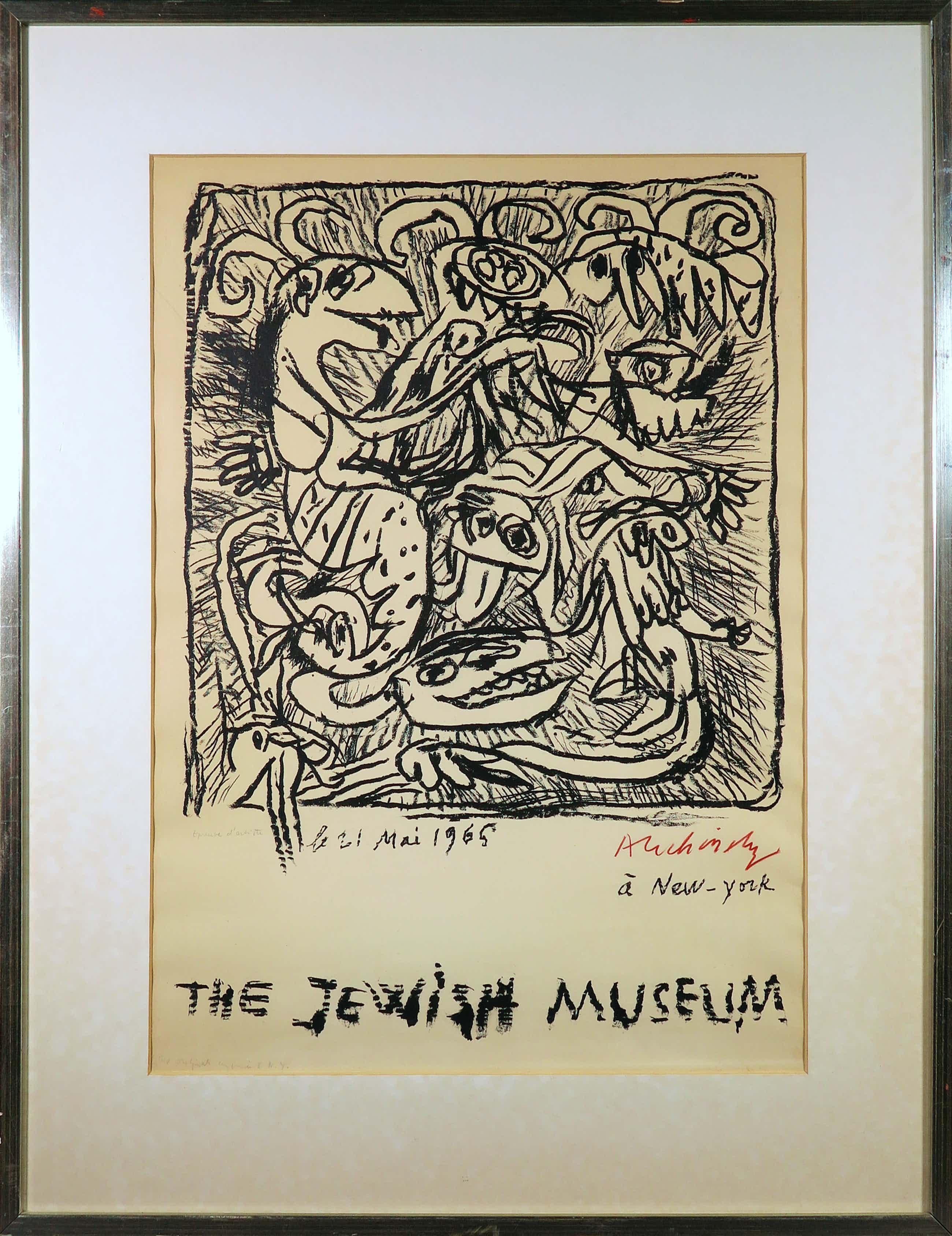 Pierre Alechinsky - Litho, The Jewish Museum (New York) - Ingelijst kopen? Bied vanaf 520!