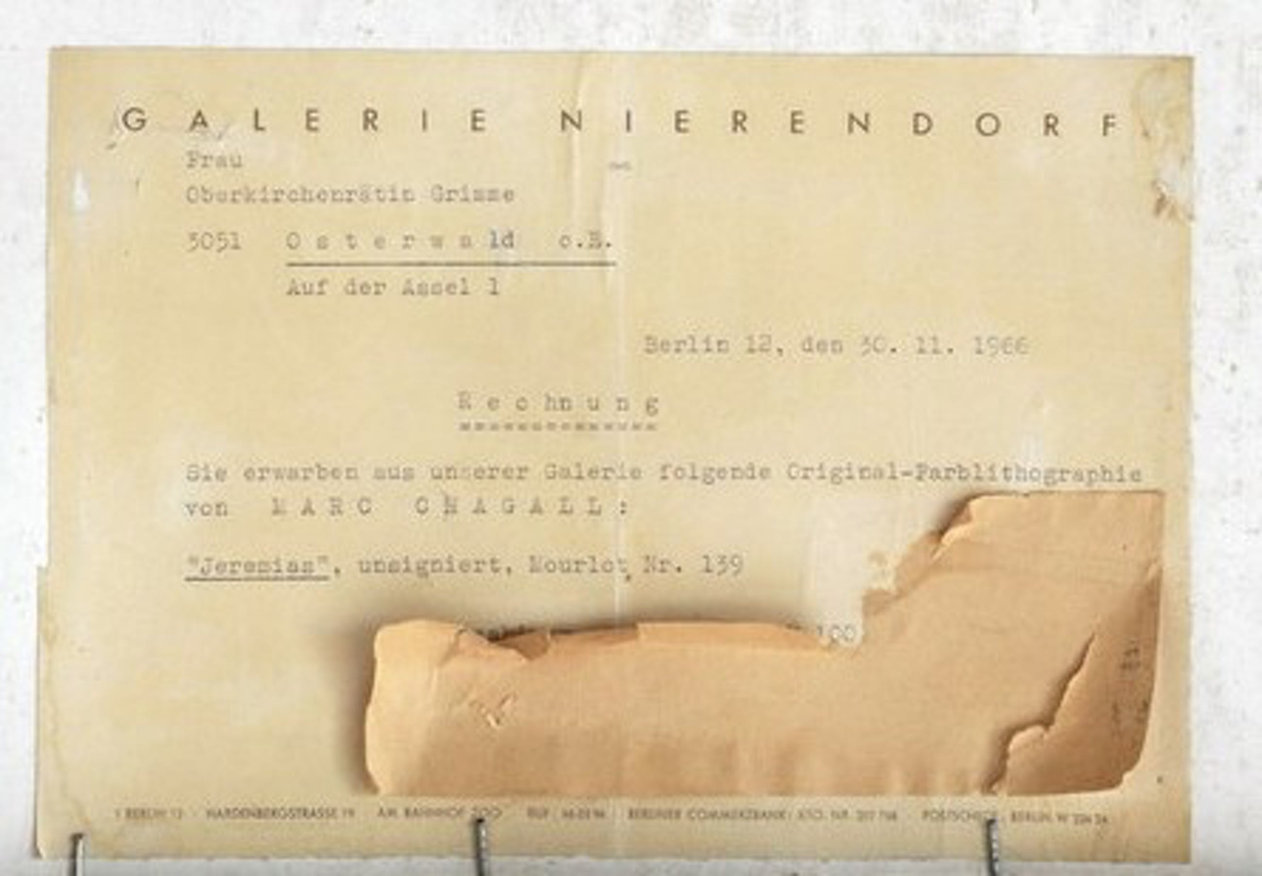 Marc Chagall - Jeremias Aus: La Bible. 1956 kopen? Bied vanaf 470!