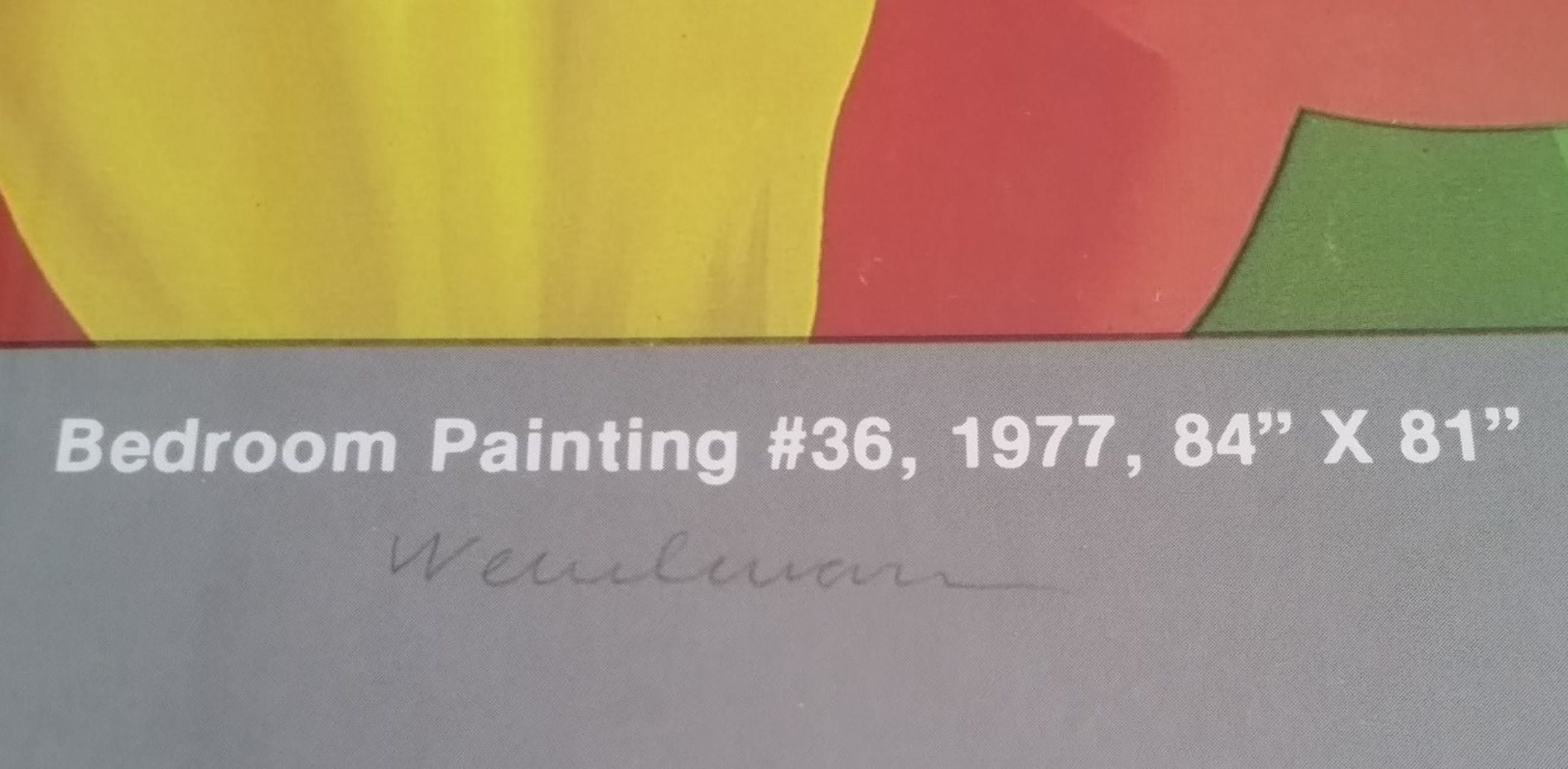 Tom Wesselmann - Gesigneerde Exhibition Poster - Bedroom Painting #36 kopen? Bied vanaf 75!