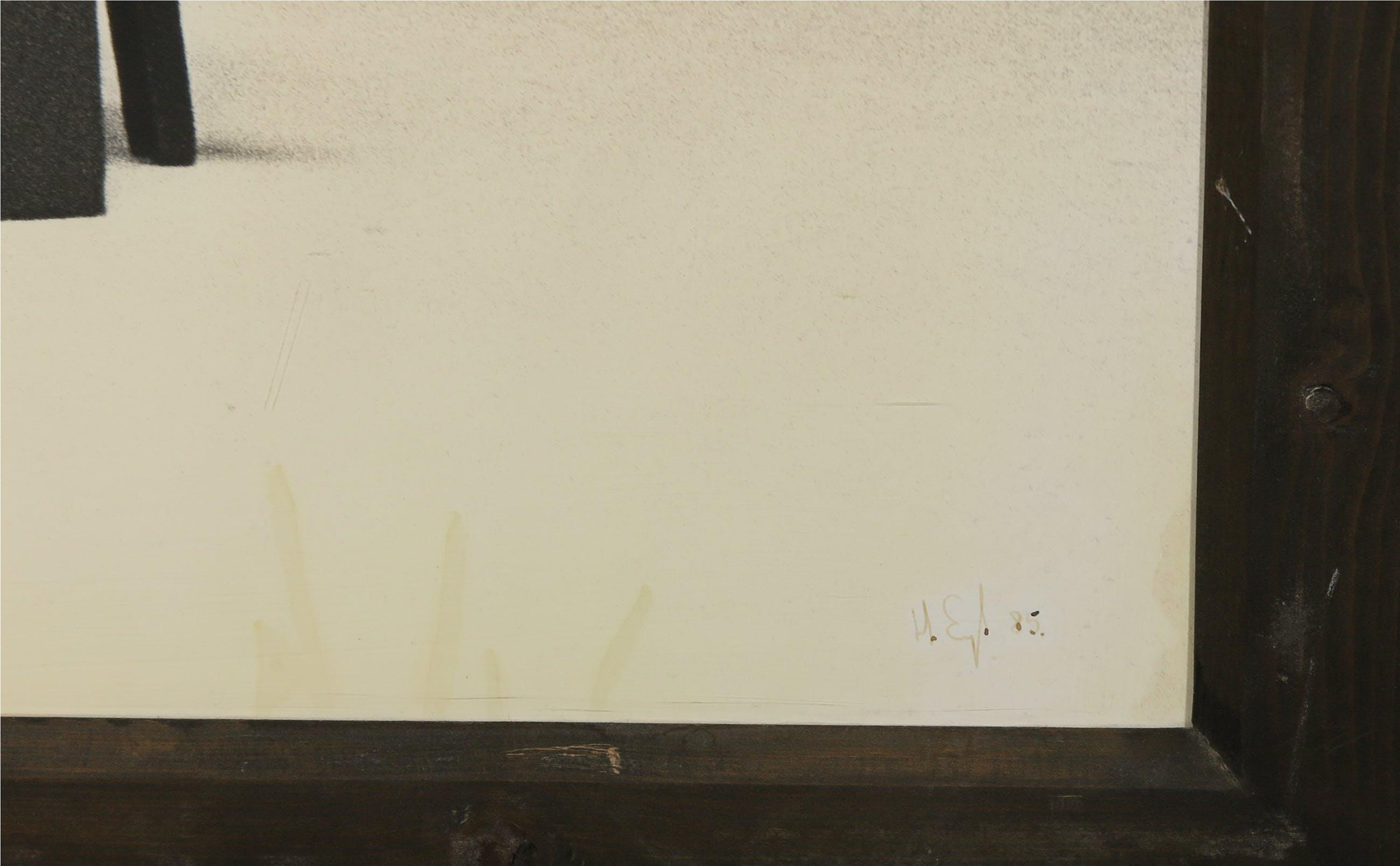 Hans Eijkelboom - Foto, Tafel met rechthoekige struktuur - Ingelijst (Groot) kopen? Bied vanaf 1!