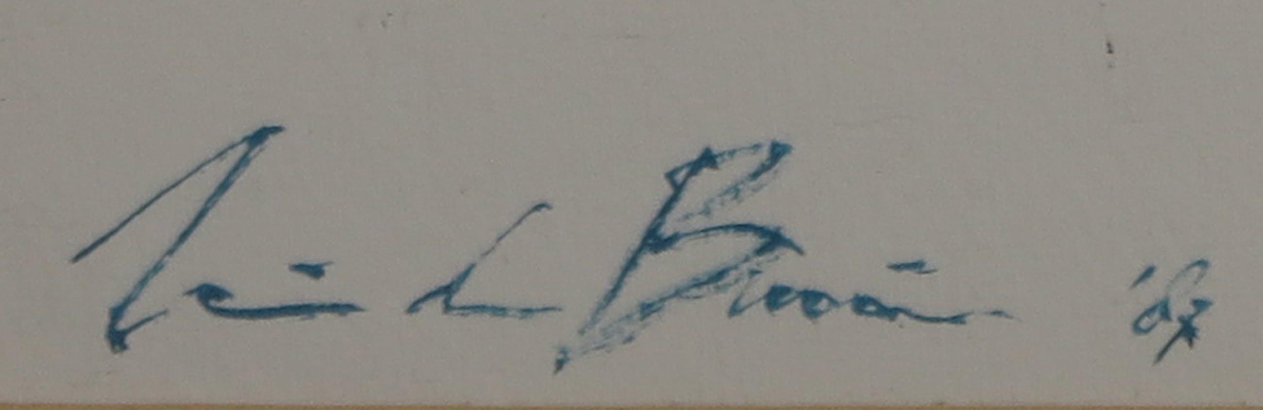Wim de Bruin - Acryl op papier, Abstract - Ingelijst kopen? Bied vanaf 1!