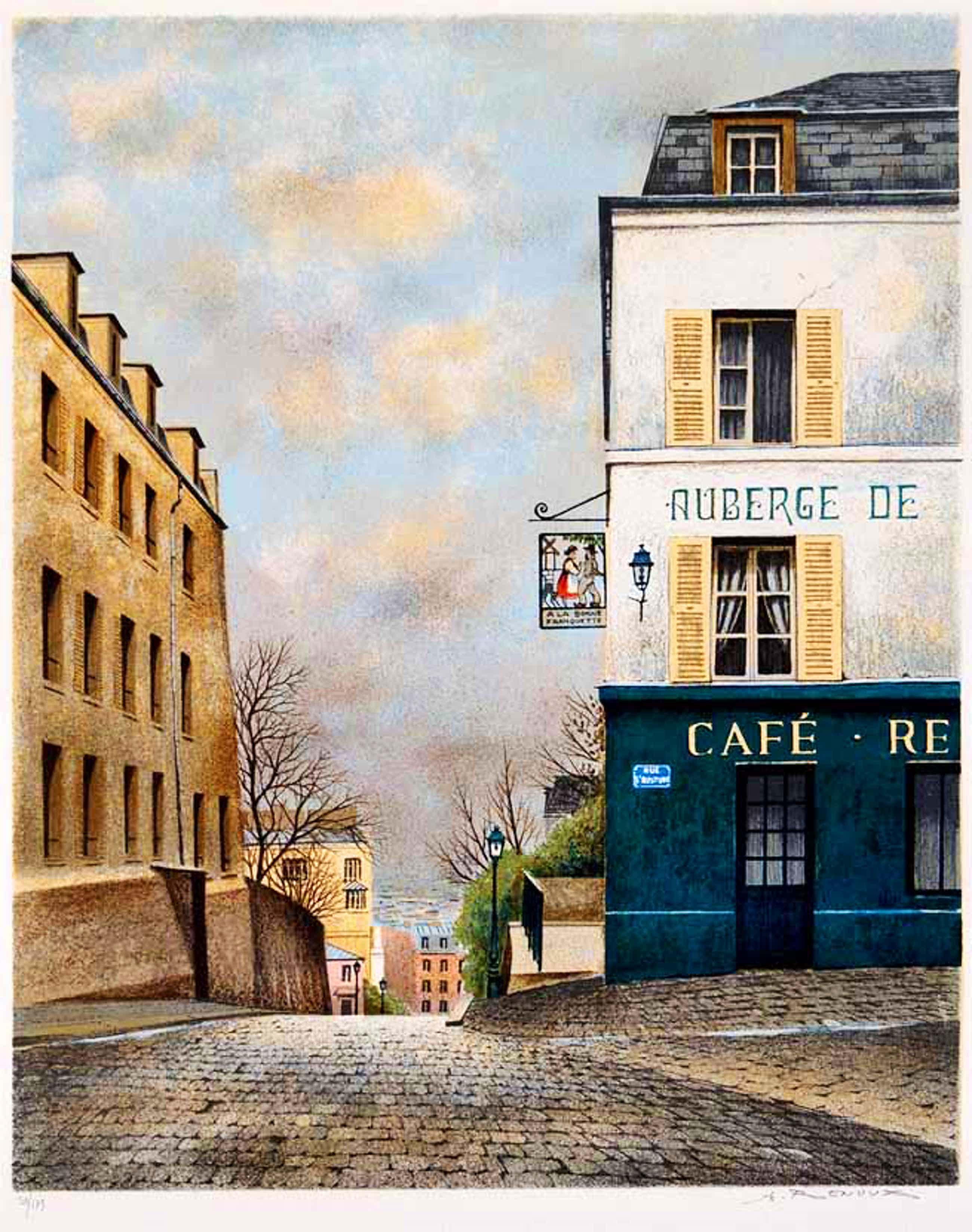 Andre Renoux - 1939-2002, Farb-Stein-Lithografie signiert kopen? Bied vanaf 75!
