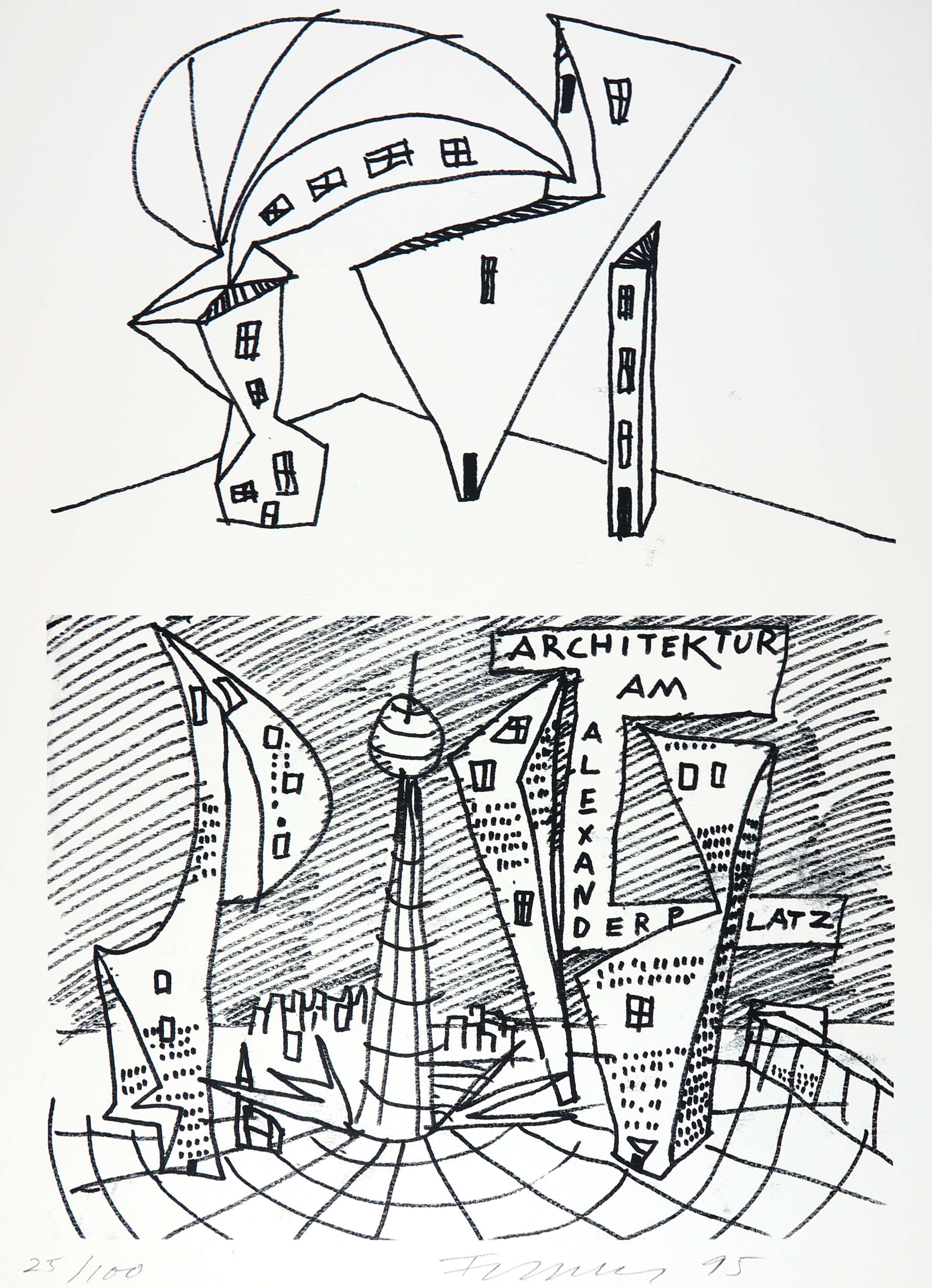 Rainer Fetting - Alexanderplatz, 1995 kopen? Bied vanaf 50!