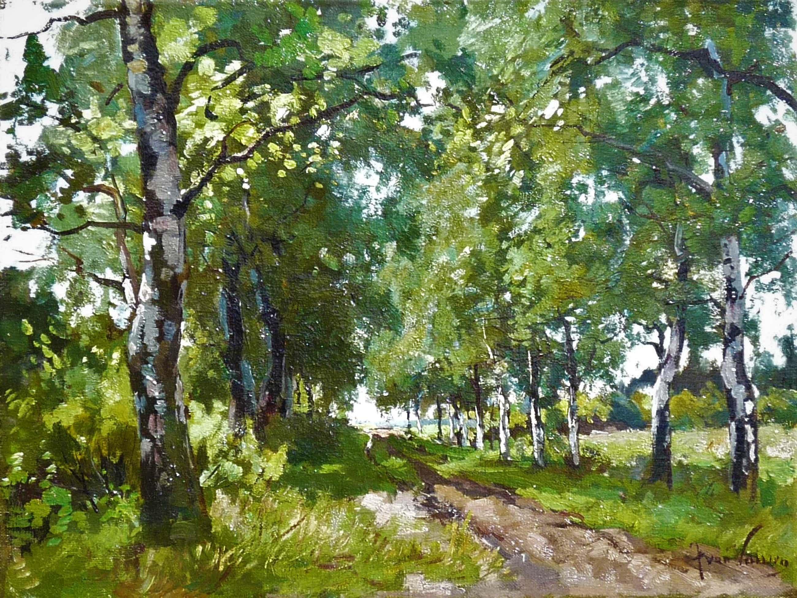 Jan van Vuuren - Pad met bomen kopen? Bied vanaf 550!