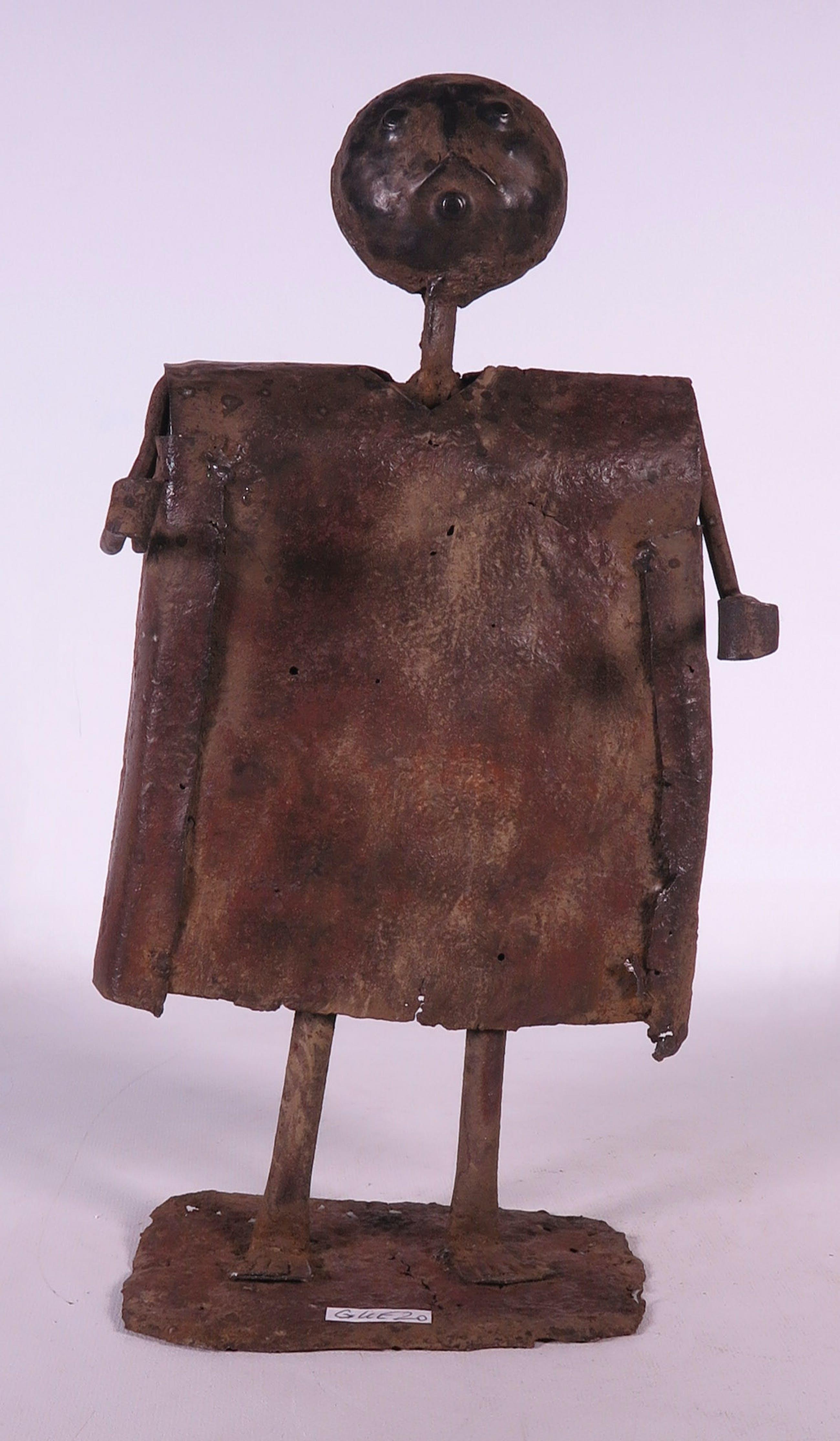 Fon - Zeldzaam beeld van ijzer, koning Guezo- koning van het ijzer en de oorlog kopen? Bied vanaf 40!
