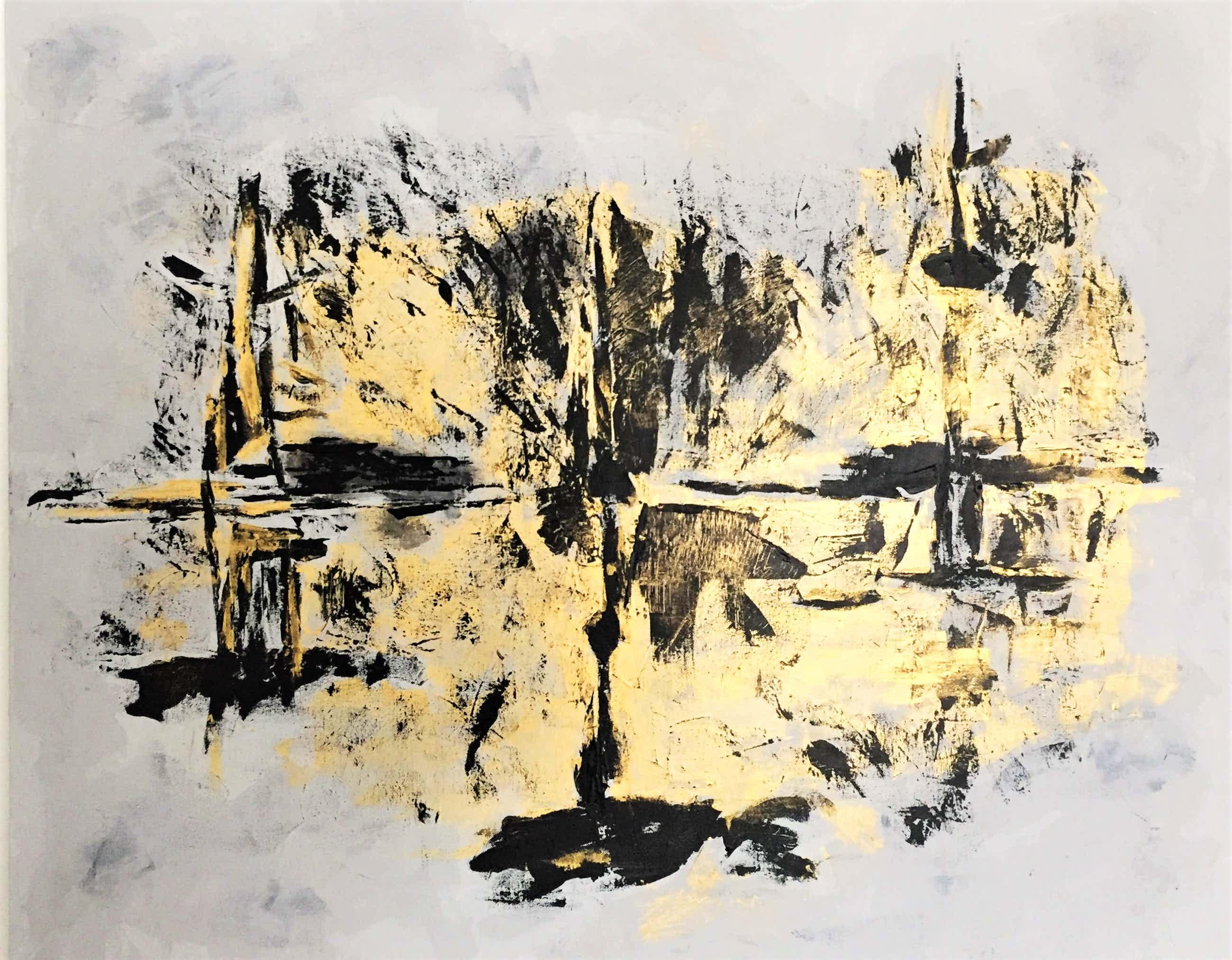 John Foppen - Golden Chaos .........# K 03. XL . GROOT. kopen? Bied vanaf 179!