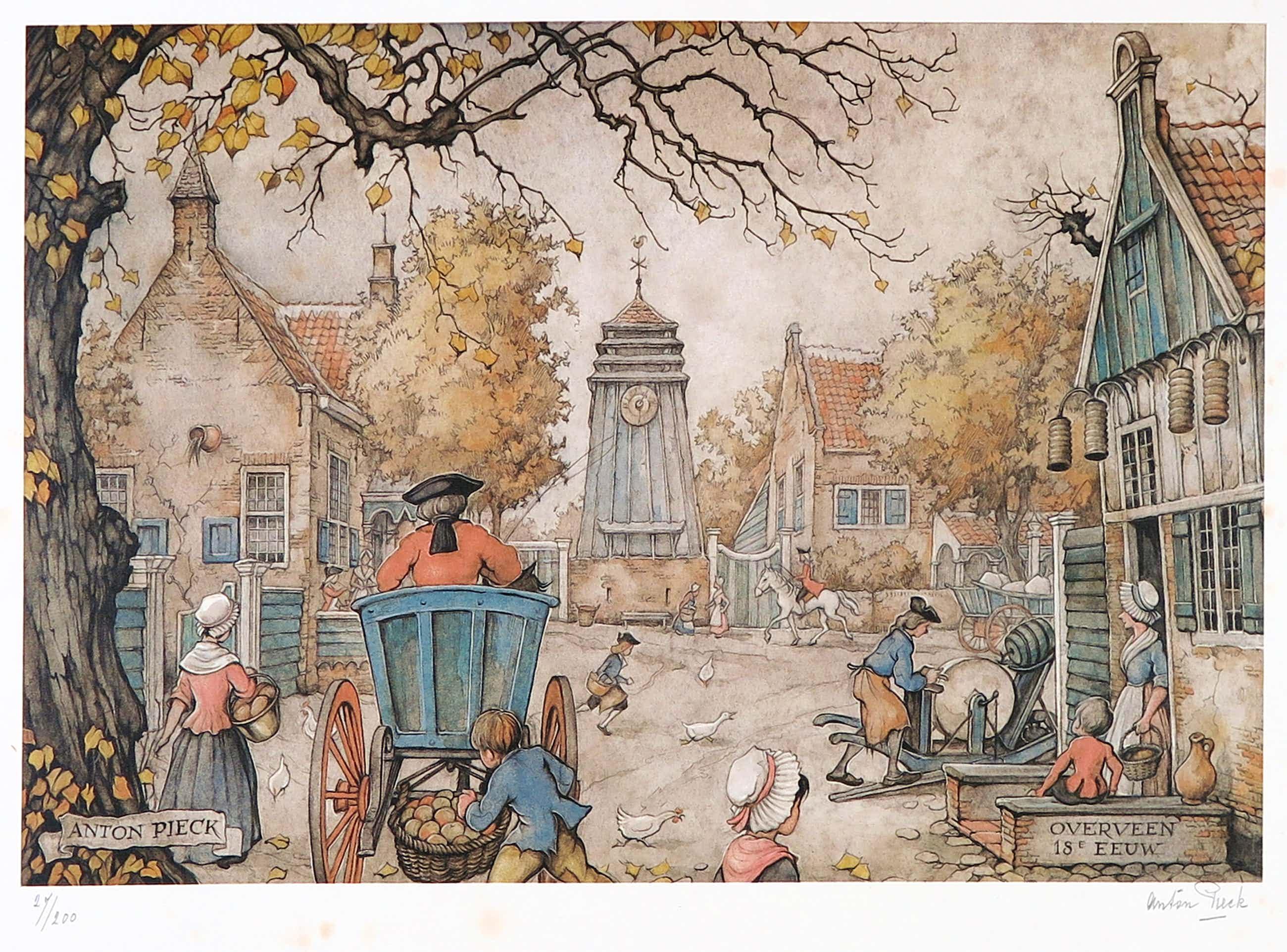 Anton Pieck - Overveen 18e eeuw kopen? Bied vanaf 50!