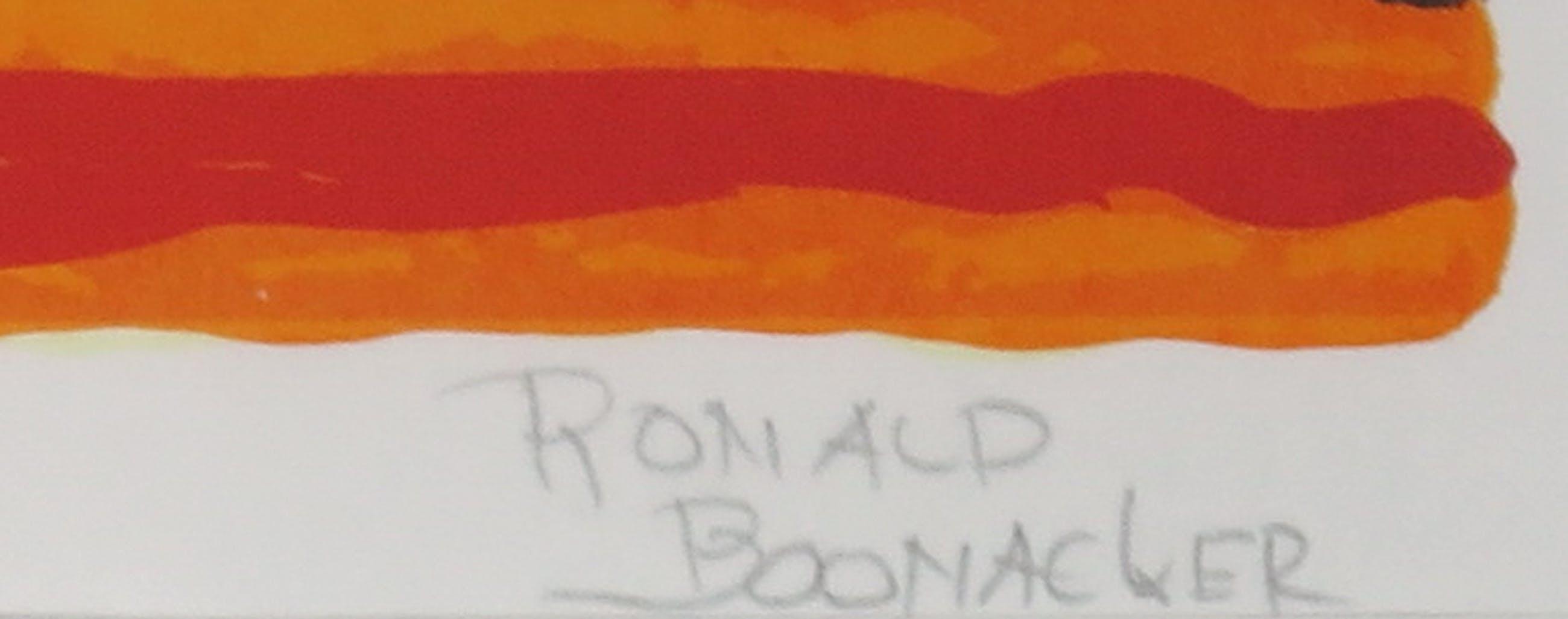 Ronald Boonacker - Zeefdruk, Curaçao - Ingelijst (Groot) kopen? Bied vanaf 50!