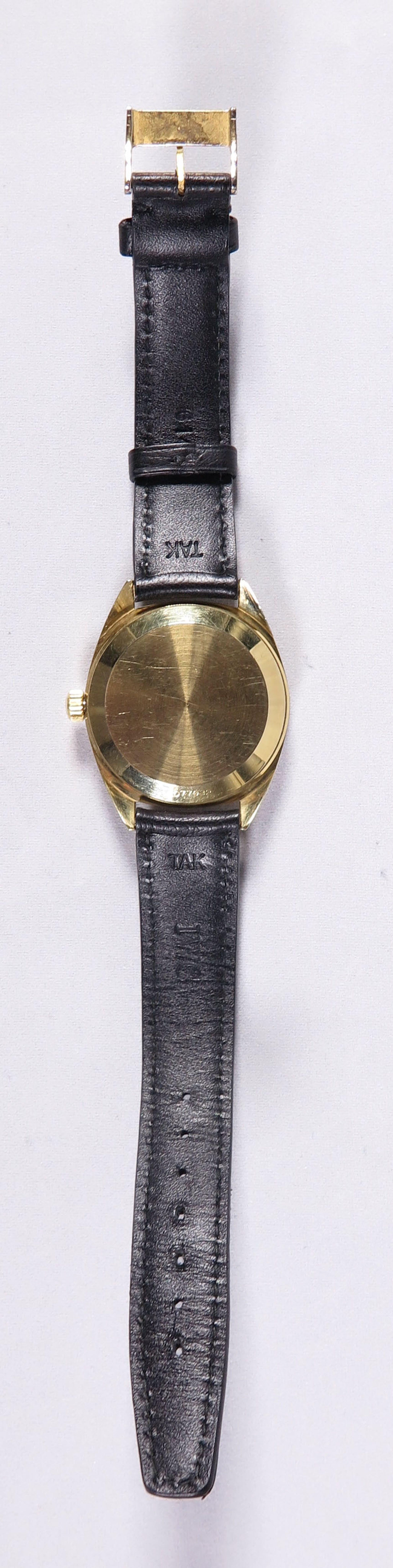 Verbazingwekkend IWC - Electronic 18K Goud, Zwitsers herenhorloge met zwart lederen CJ-08