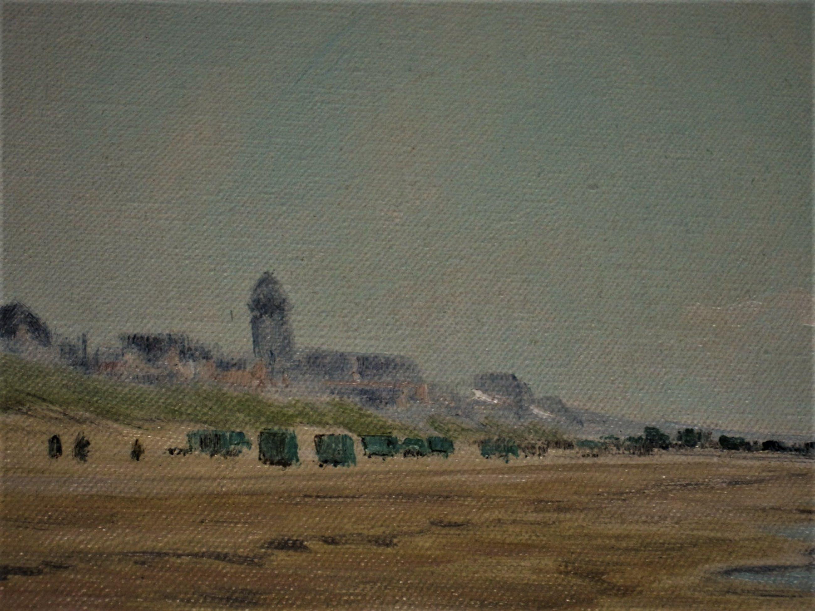 """Henri Savrij - Haarlems impressionist - olieverf - """"aan het strand bij Katwijk"""" gesigneerd kopen? Bied vanaf 10!"""