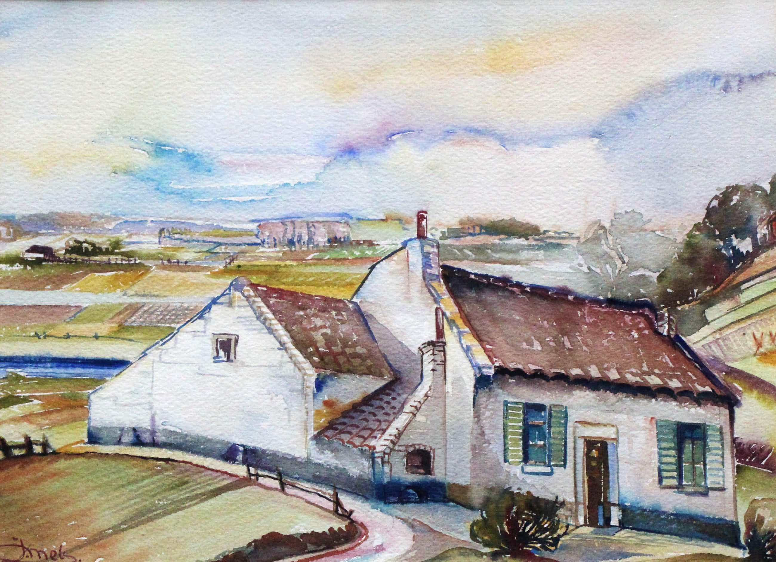 Jacques Mels - Ingelijste aquarel: Maastricht - 1940 kopen? Bied vanaf 99!