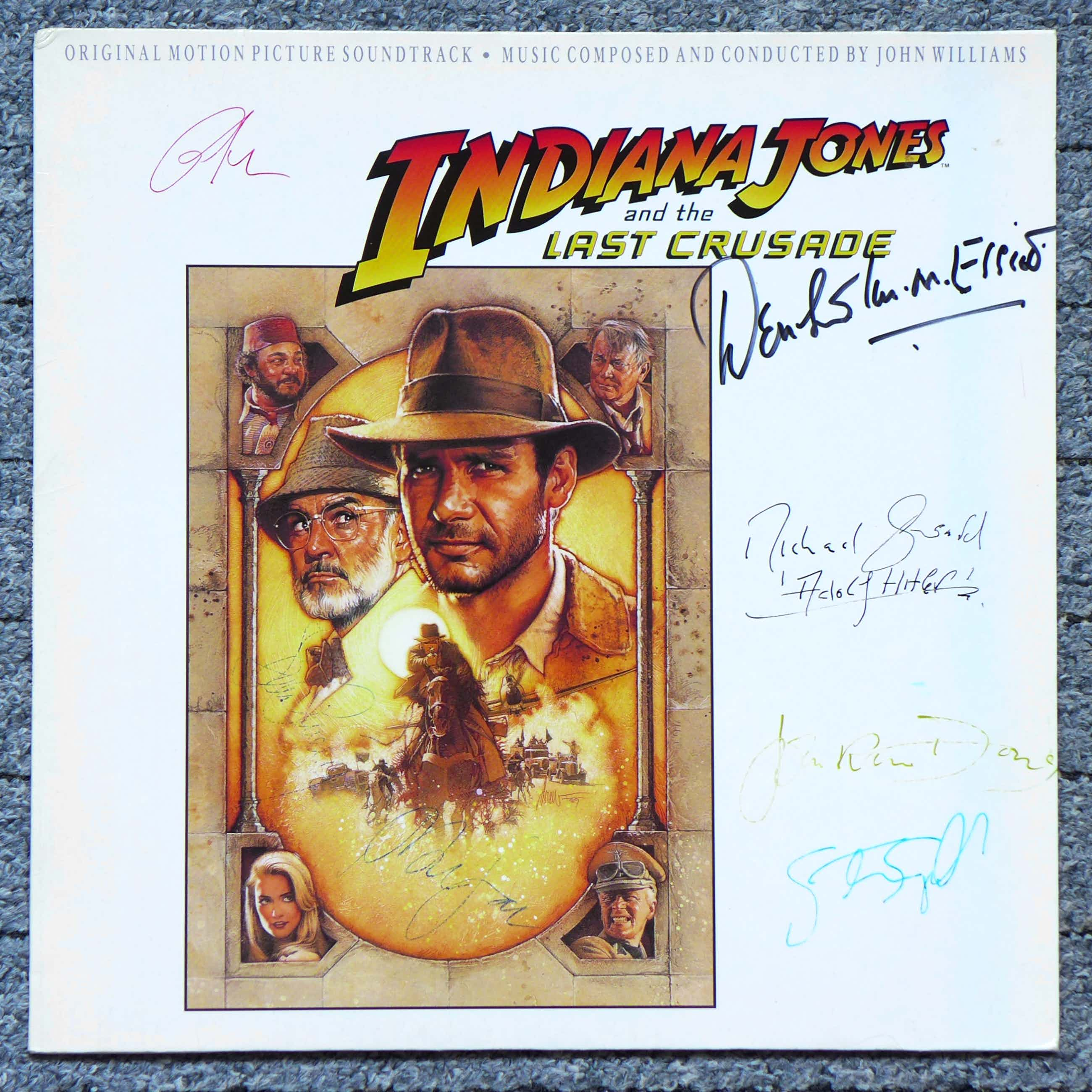 John Williams - Indiana Jones Last Crusade LP signiert Connery Ford Spielberg Lucas +3 kopen? Bied vanaf 99!