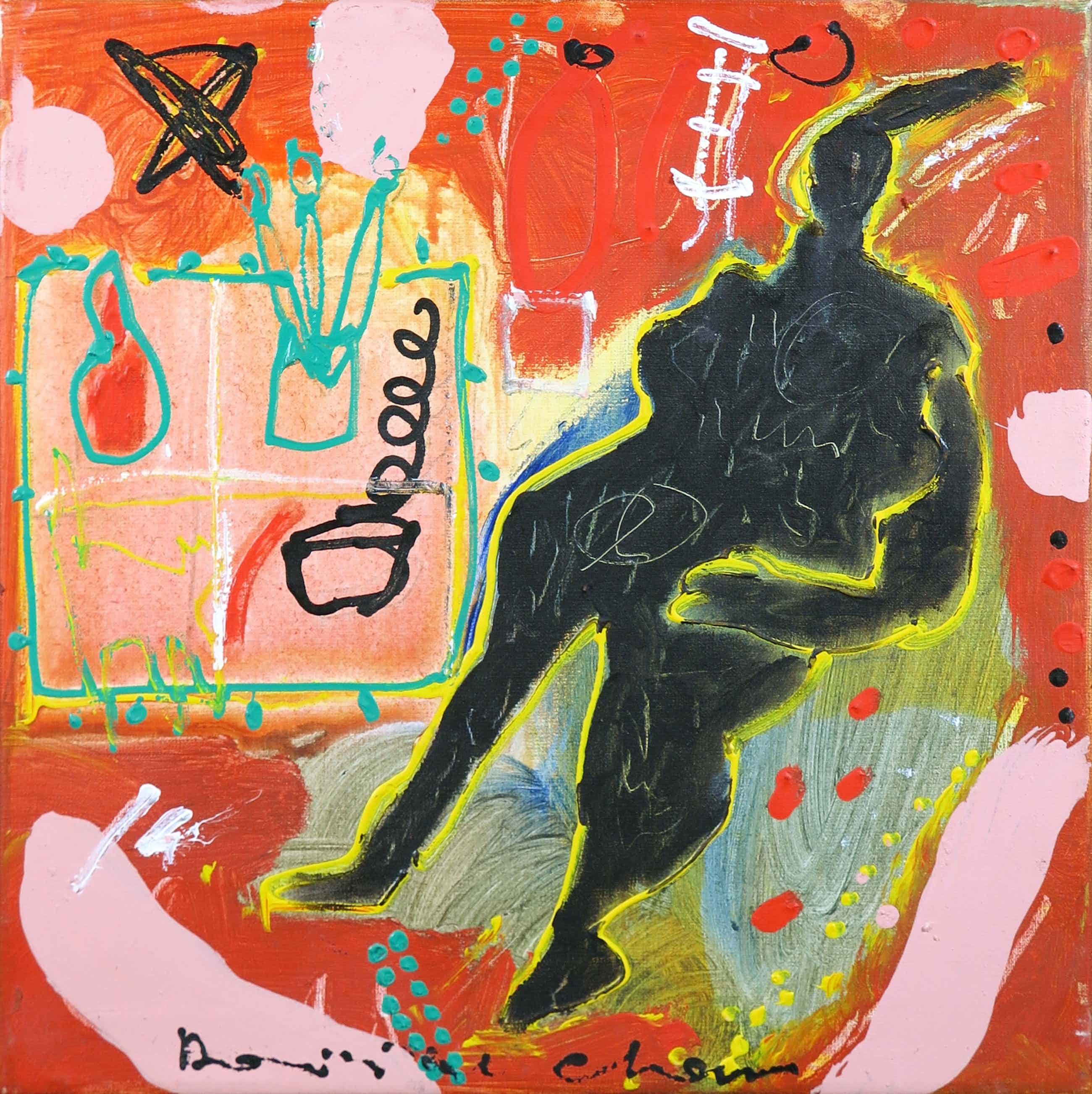 Dominique Chan - Acryl op doek, Z.T. Abstracte compositie kopen? Bied vanaf 100!